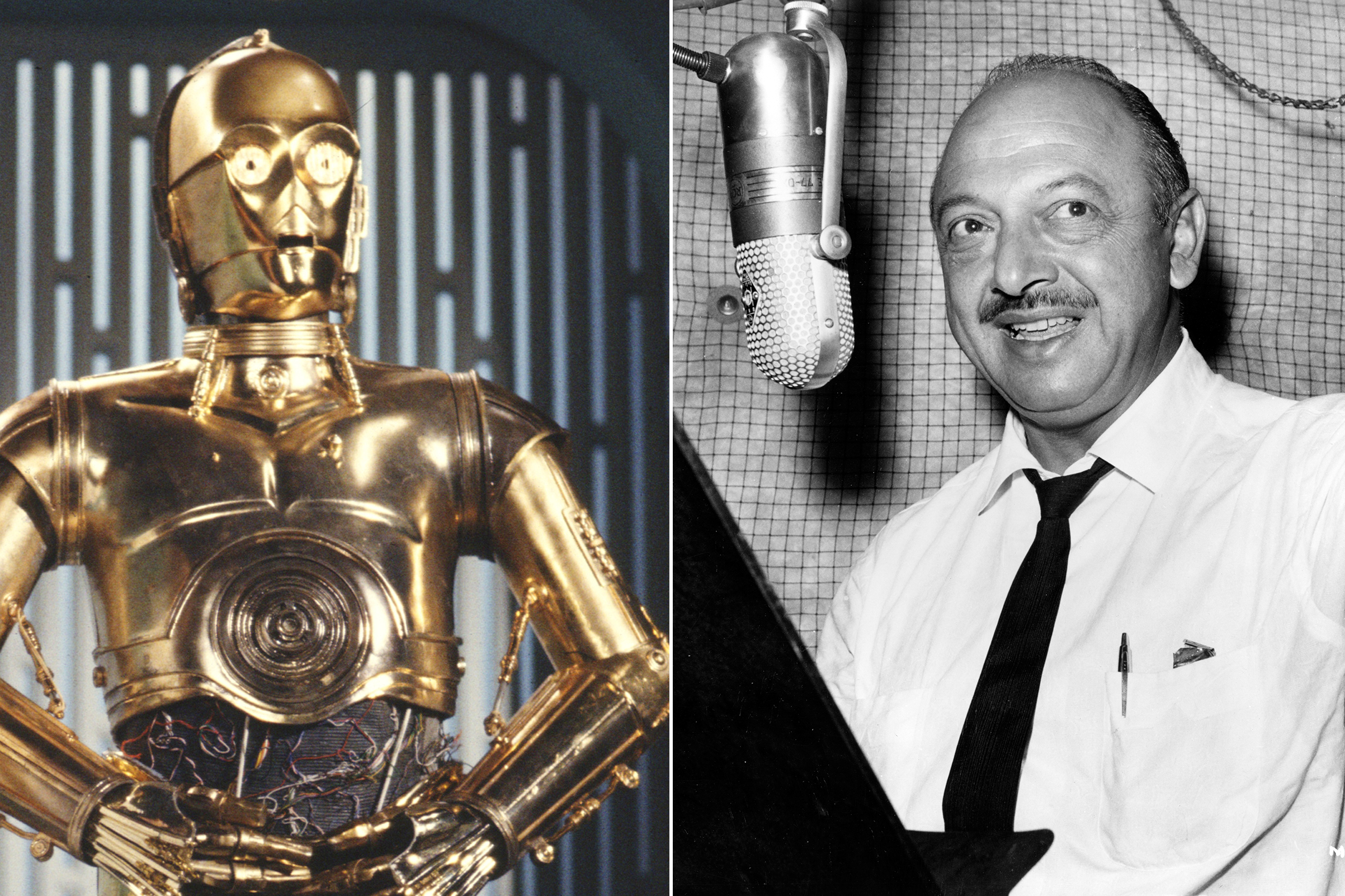 Mel Blanc was almost cast as C3PO in Star Wars