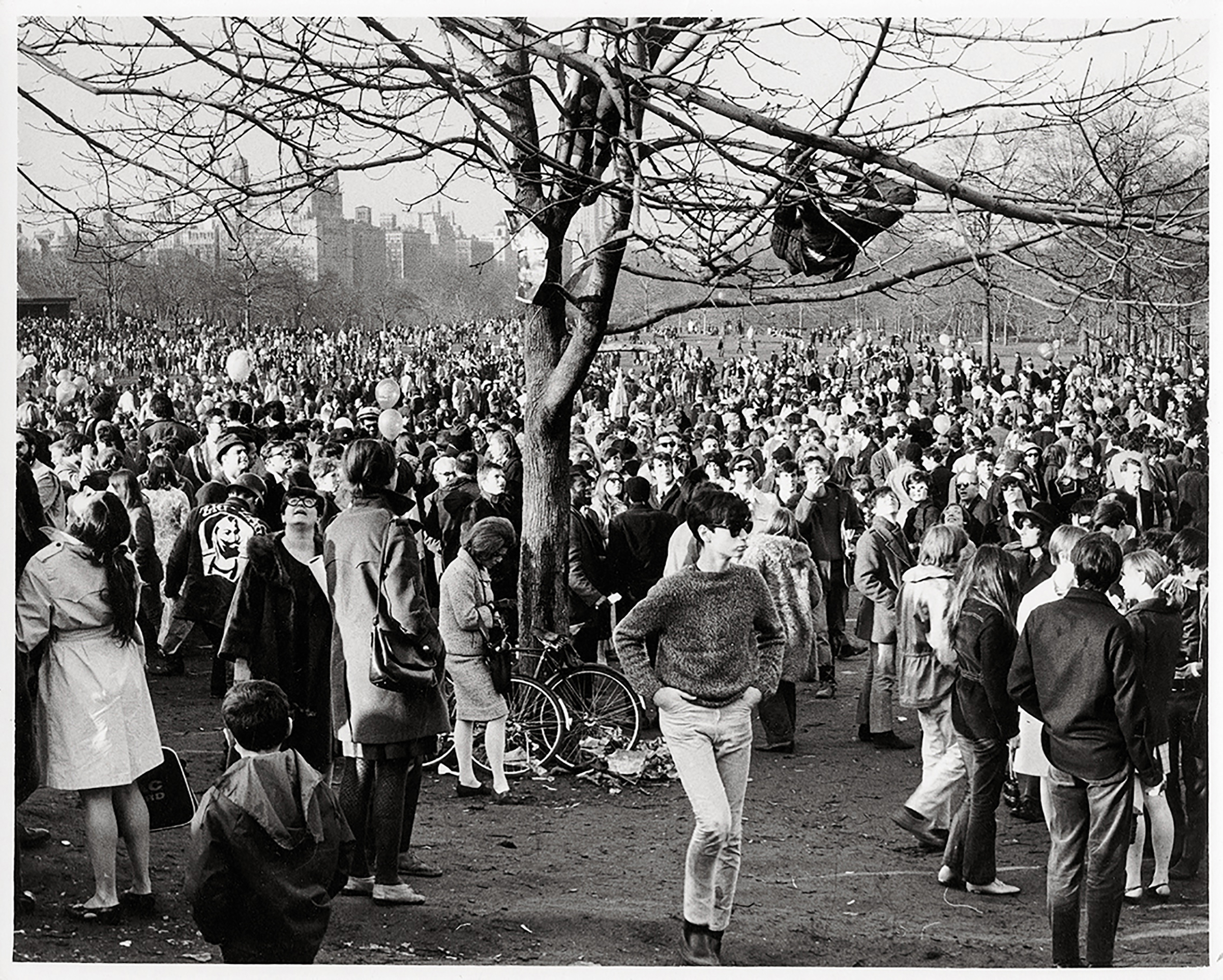 Central Park  Be-In.  March 26, 1967. Photograph by Frederick Kelly.