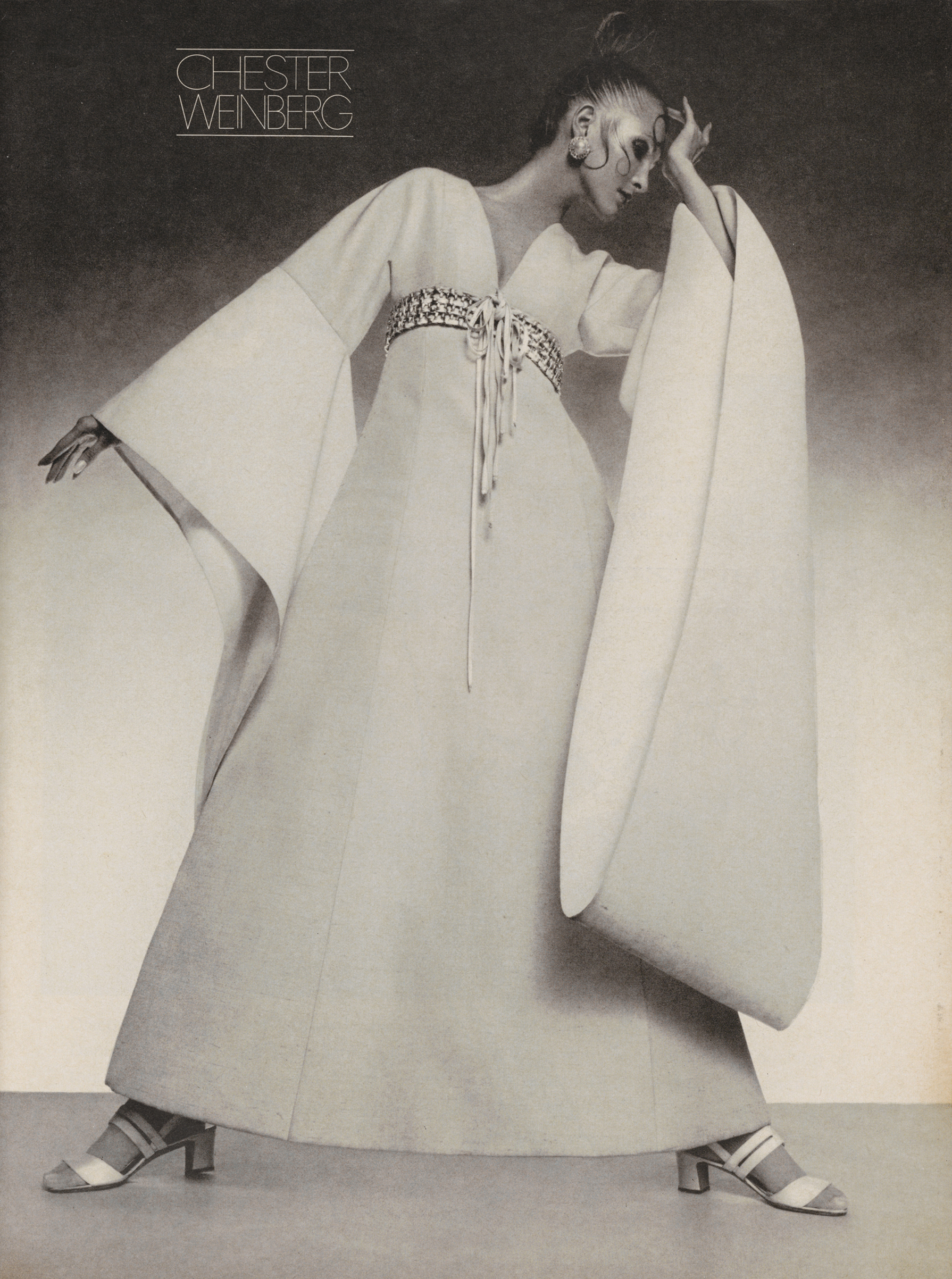 Advertisement for Chester Weinberg, published in Vogue, February 1, 1969.