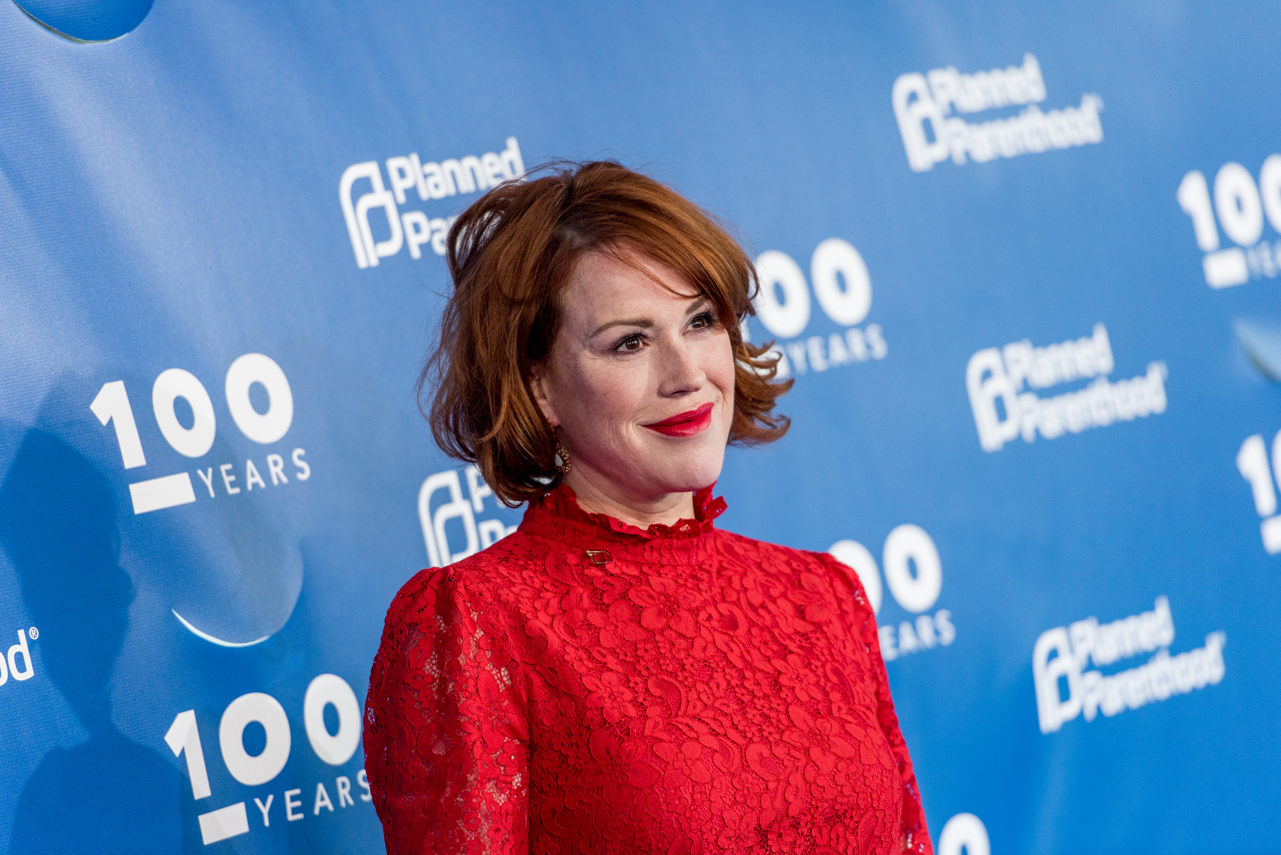 Molly Ringwald attends the Planned Parenthood 100th Anniversary Gala at Pier 36 on May 2, 2017 in New York City.