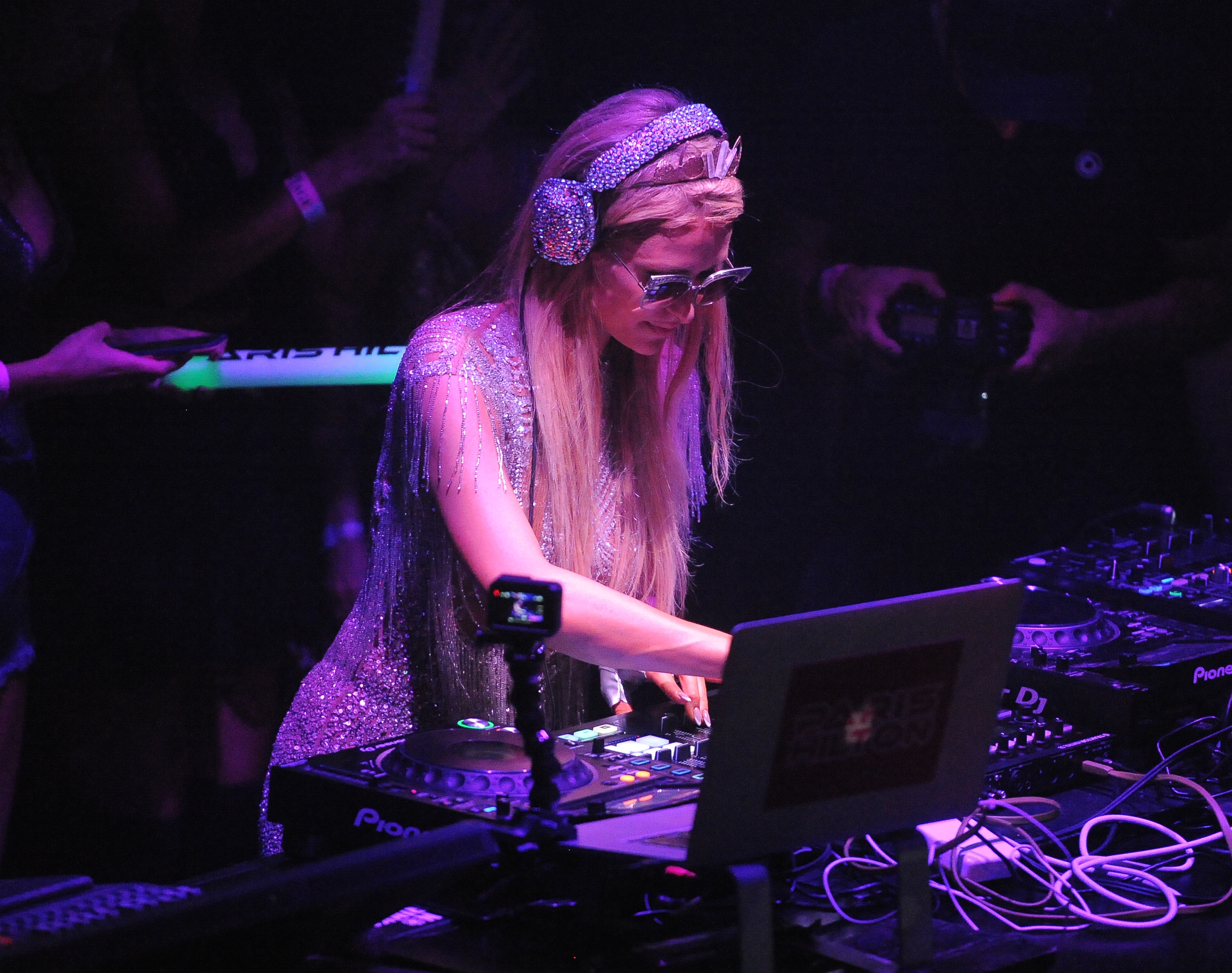 Paris Hilton performing at Amnesia Night Club on July 24, 2017 in Ibiza, Spain.