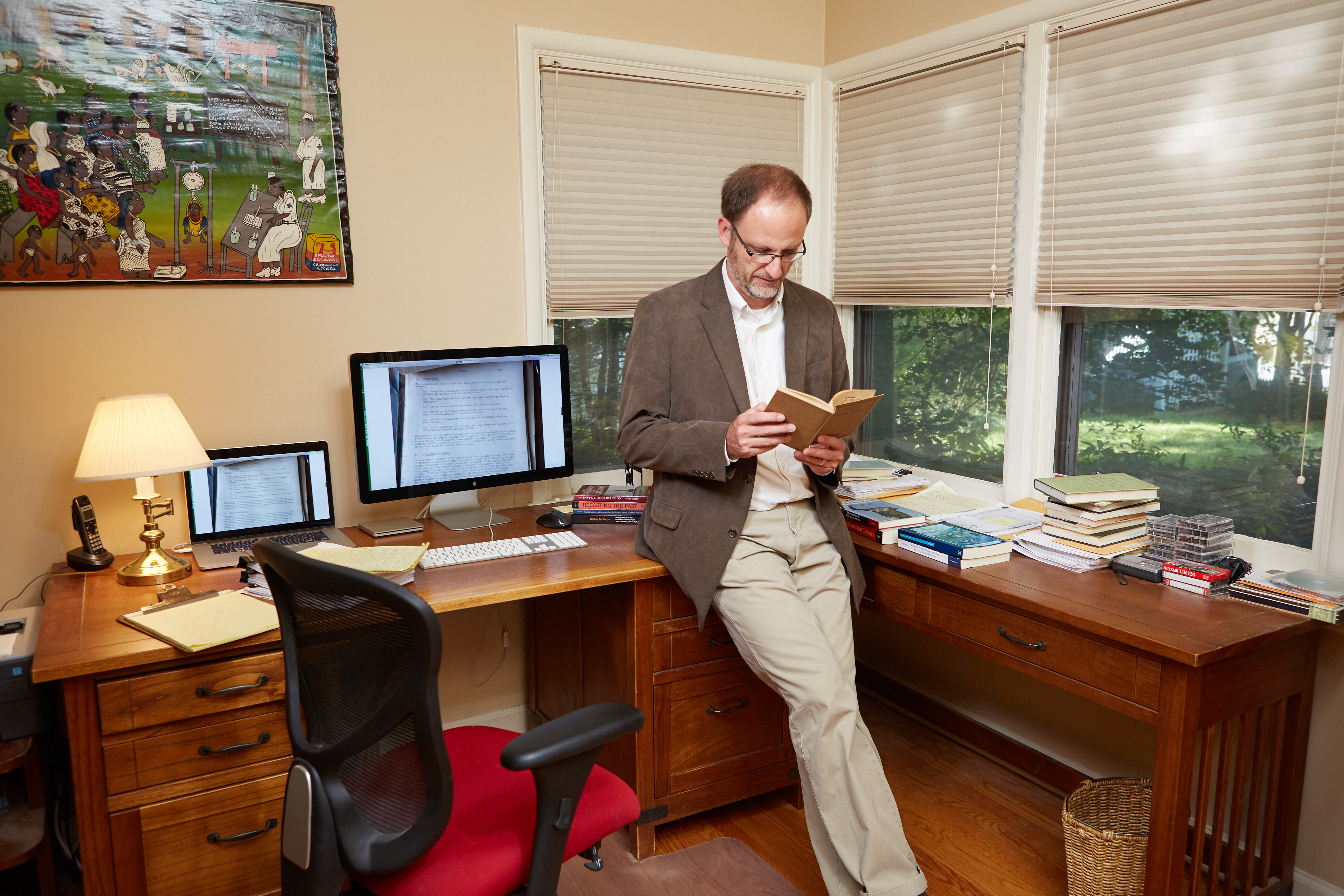 Derek Peterson in his office at the University of Michigan, 9/11/2017