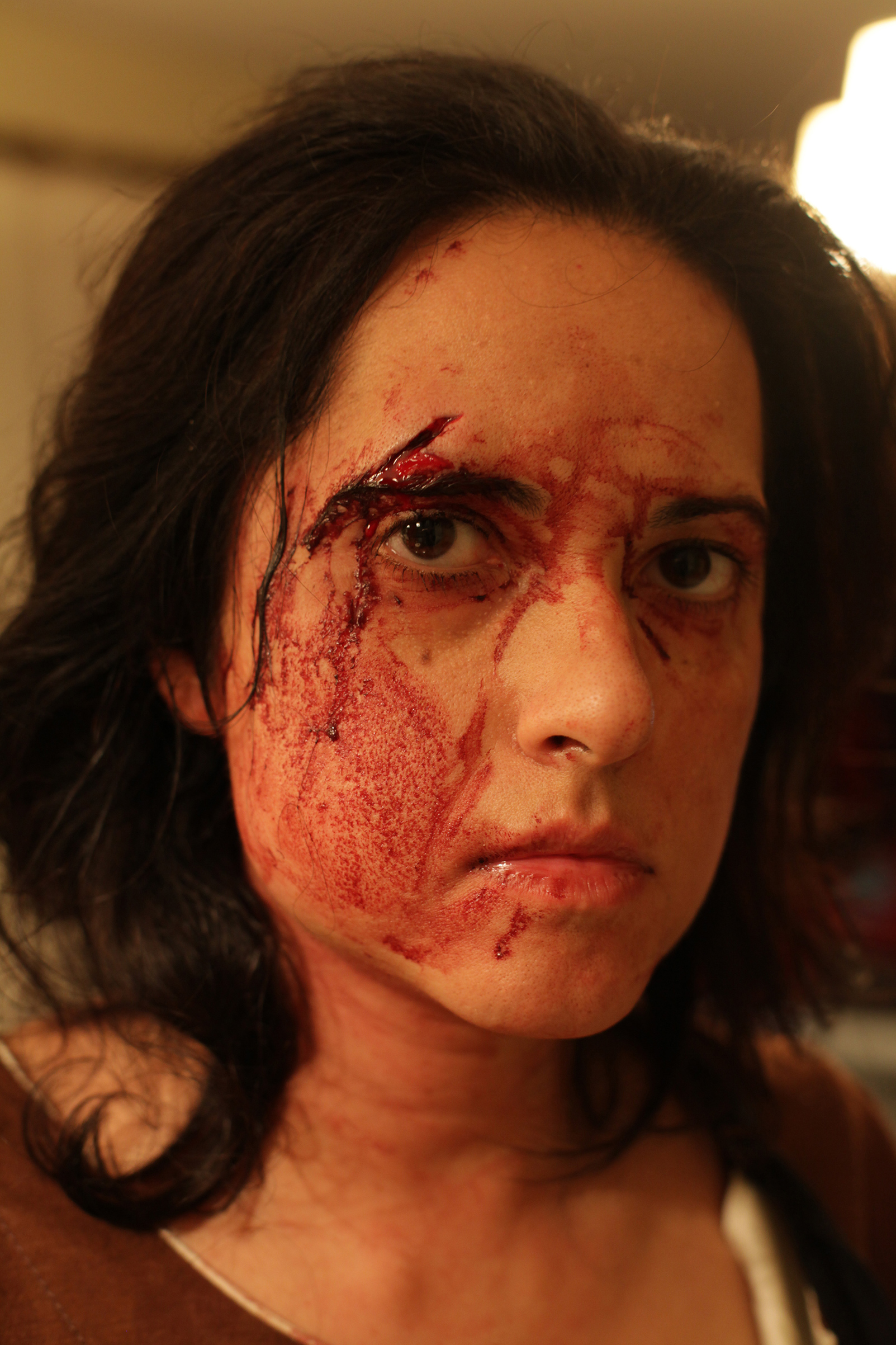 A self portrait by photojournalist Rena Effendi taken after an attack on March 9, 2012.