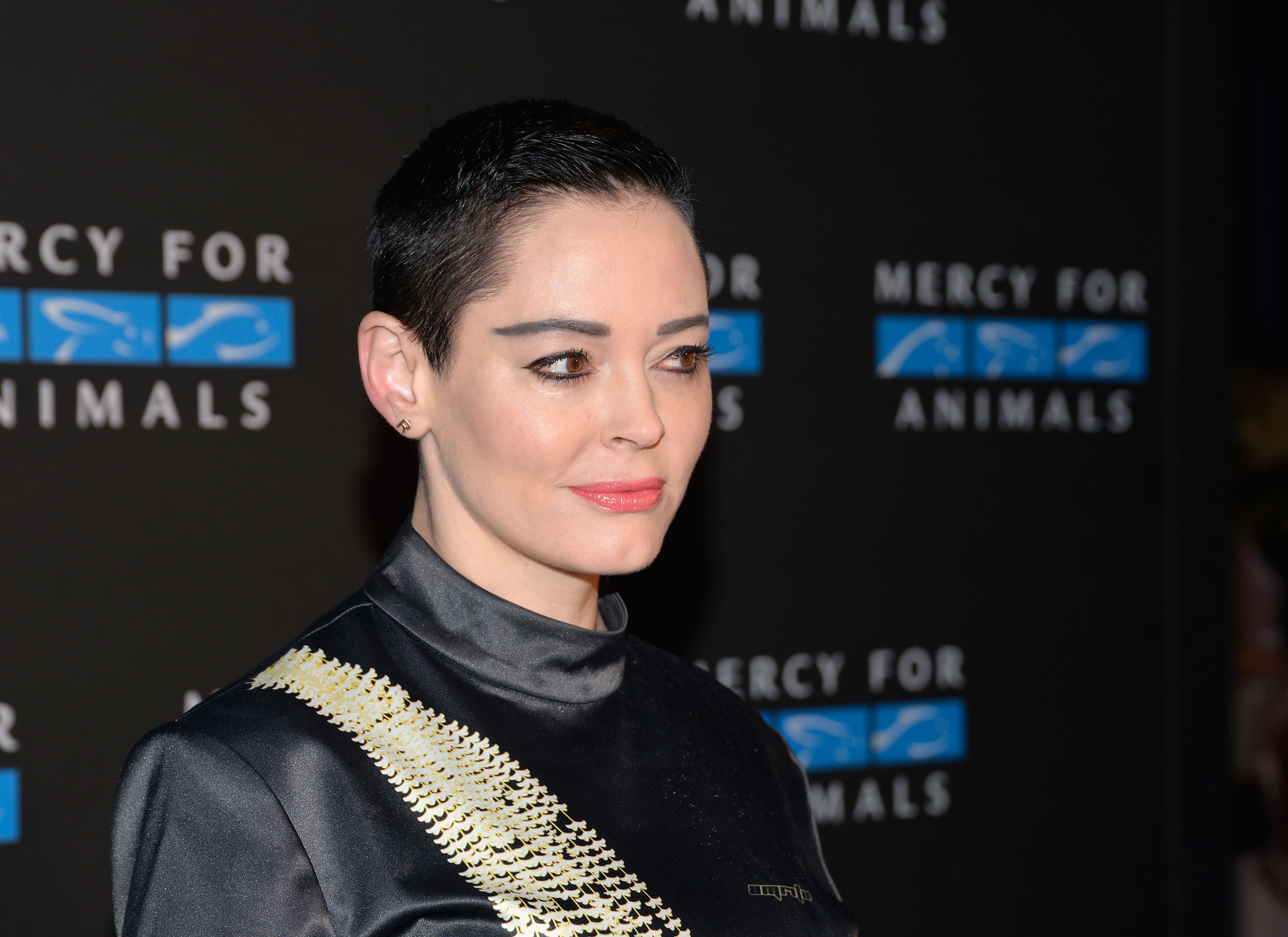Rose McGowan attends Mercy For Animals' annual Hidden Heroes Gala at Vibiana on Sept. 23, 2017 in Los Angeles, Cali.