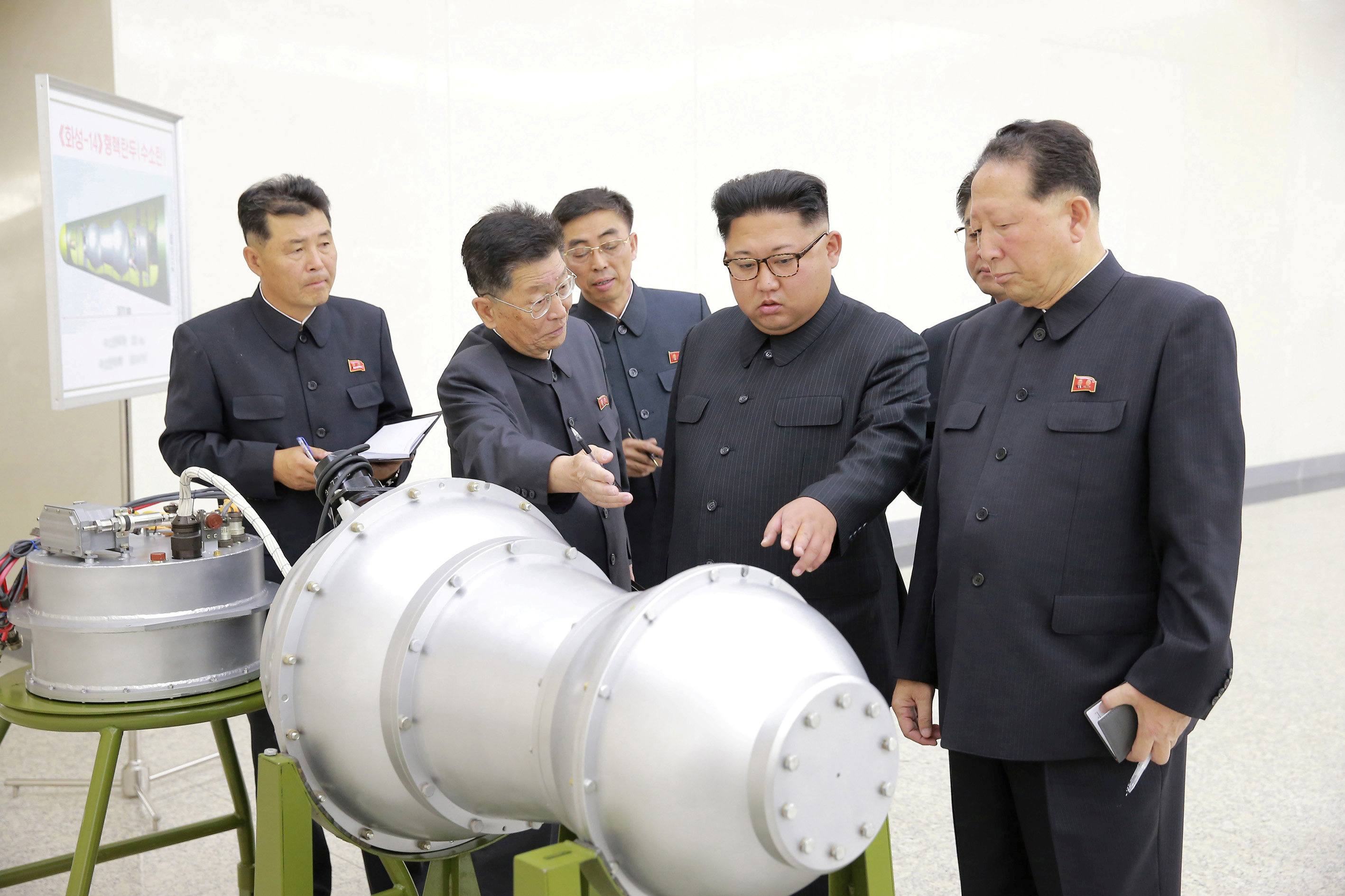 North Korean leader Kim Jong Un pictured in an undated photo released by North Korea's Korean Central News Agency (KCNA) in Pyongyang Sept. 3, 2017.