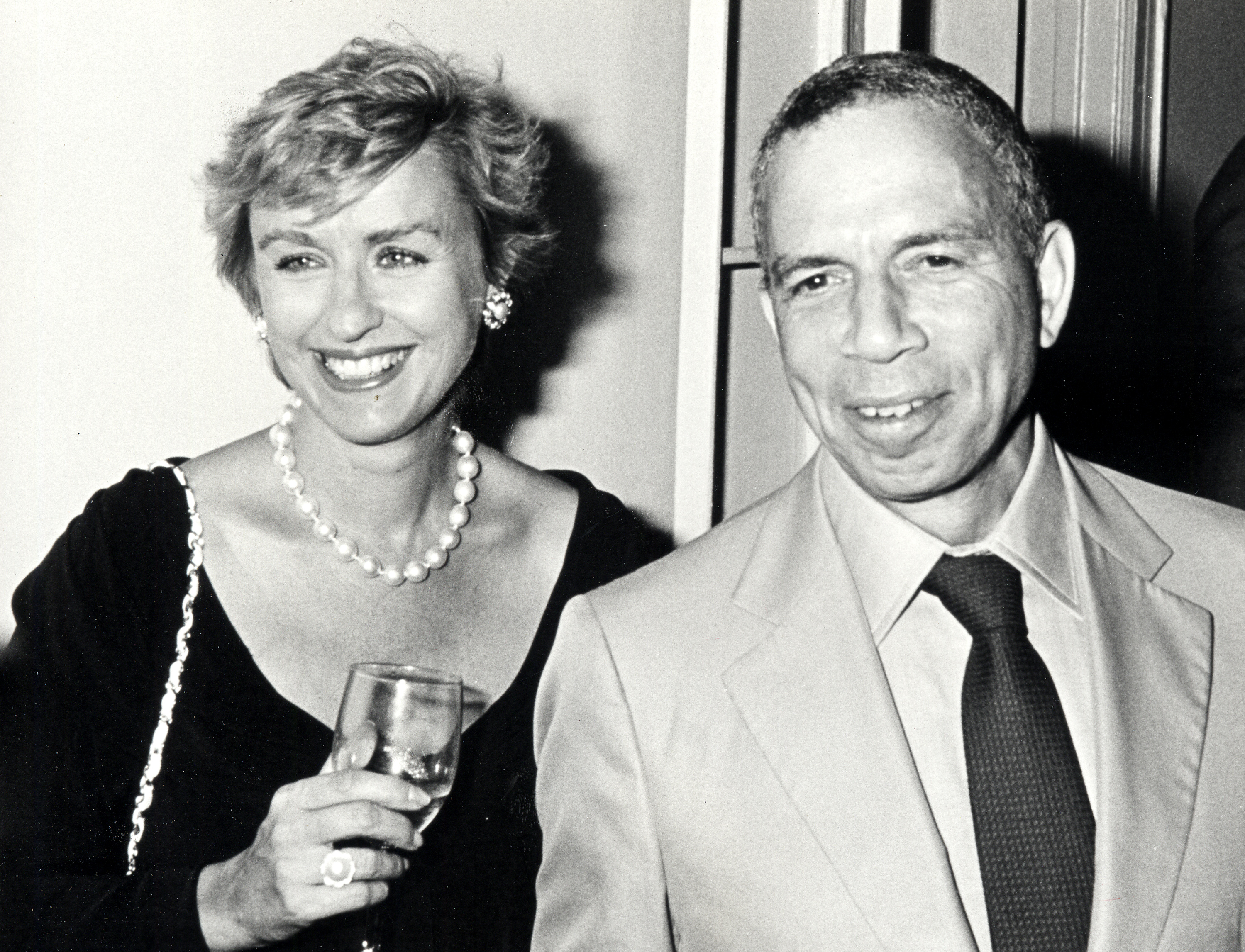 Publisher S.I. Newhouse, Jr., and editor Tina Brown attending 'Holy Terror: Andy Warhol Close Up' on August 8, 1990, in New York City
