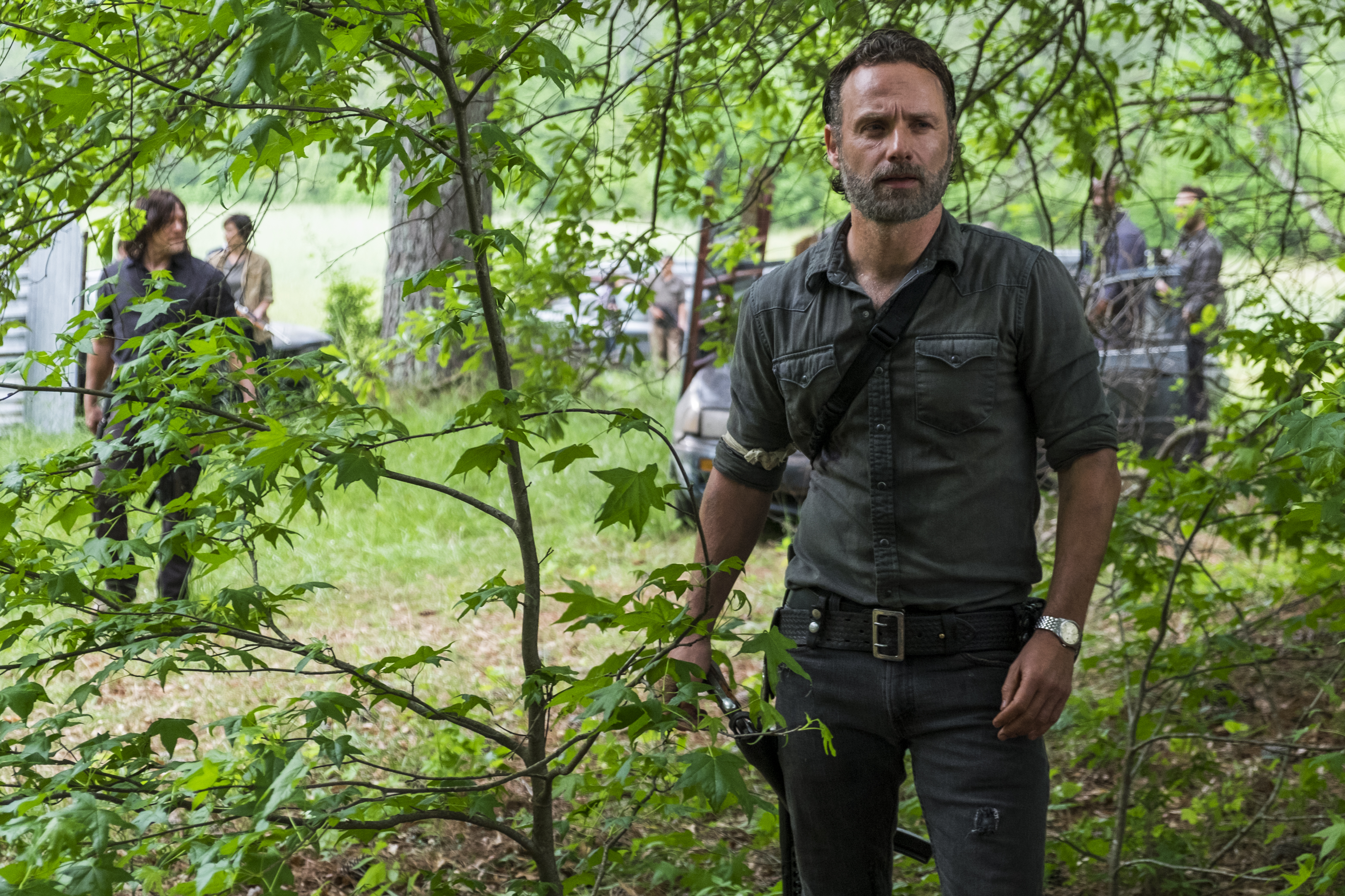 Andrew Lincoln as Rick Grimes in The Walking Dead - Season 8, Episode 1