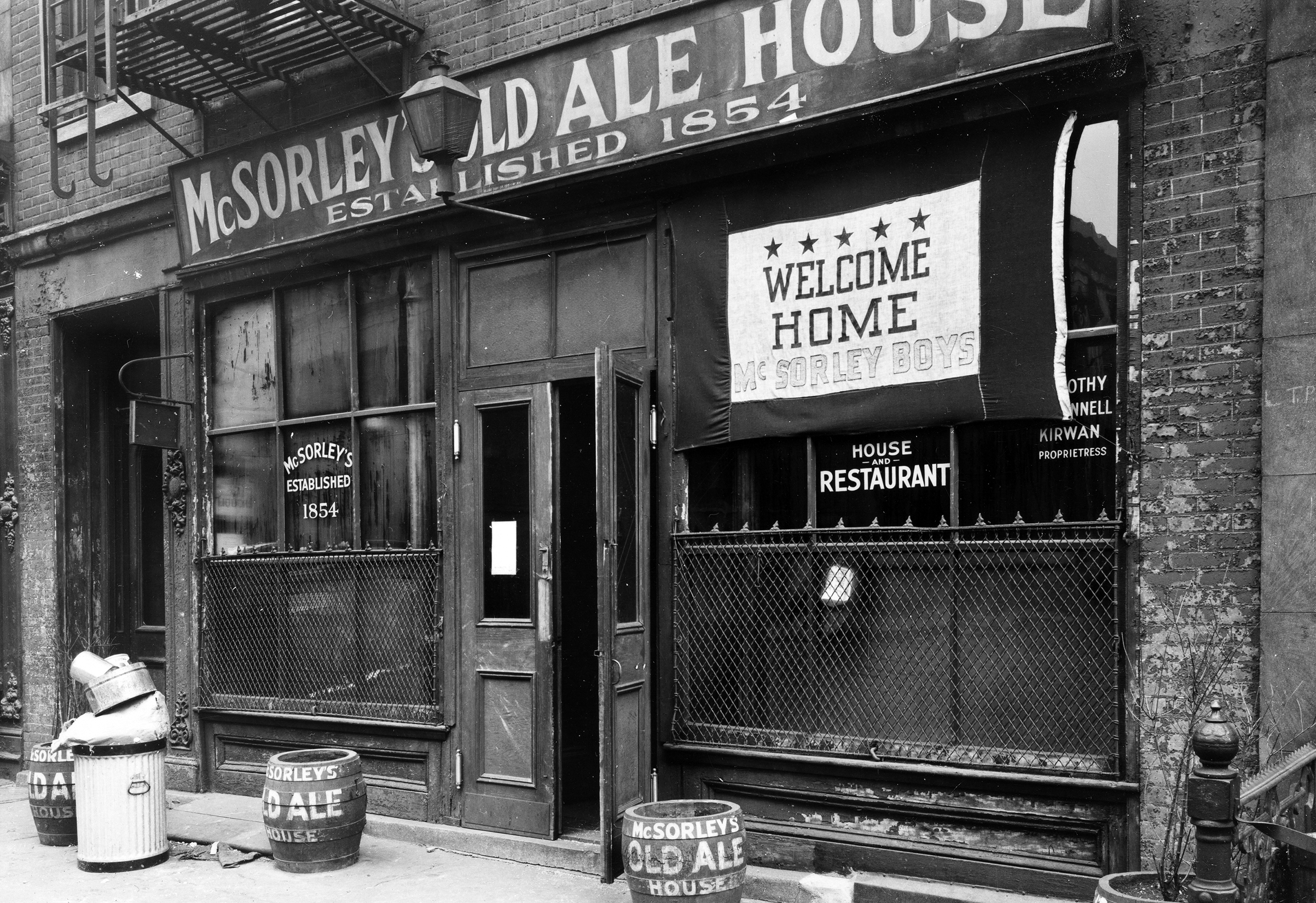 East 7th Street (Welcome Home McSorley Boys), 1946.