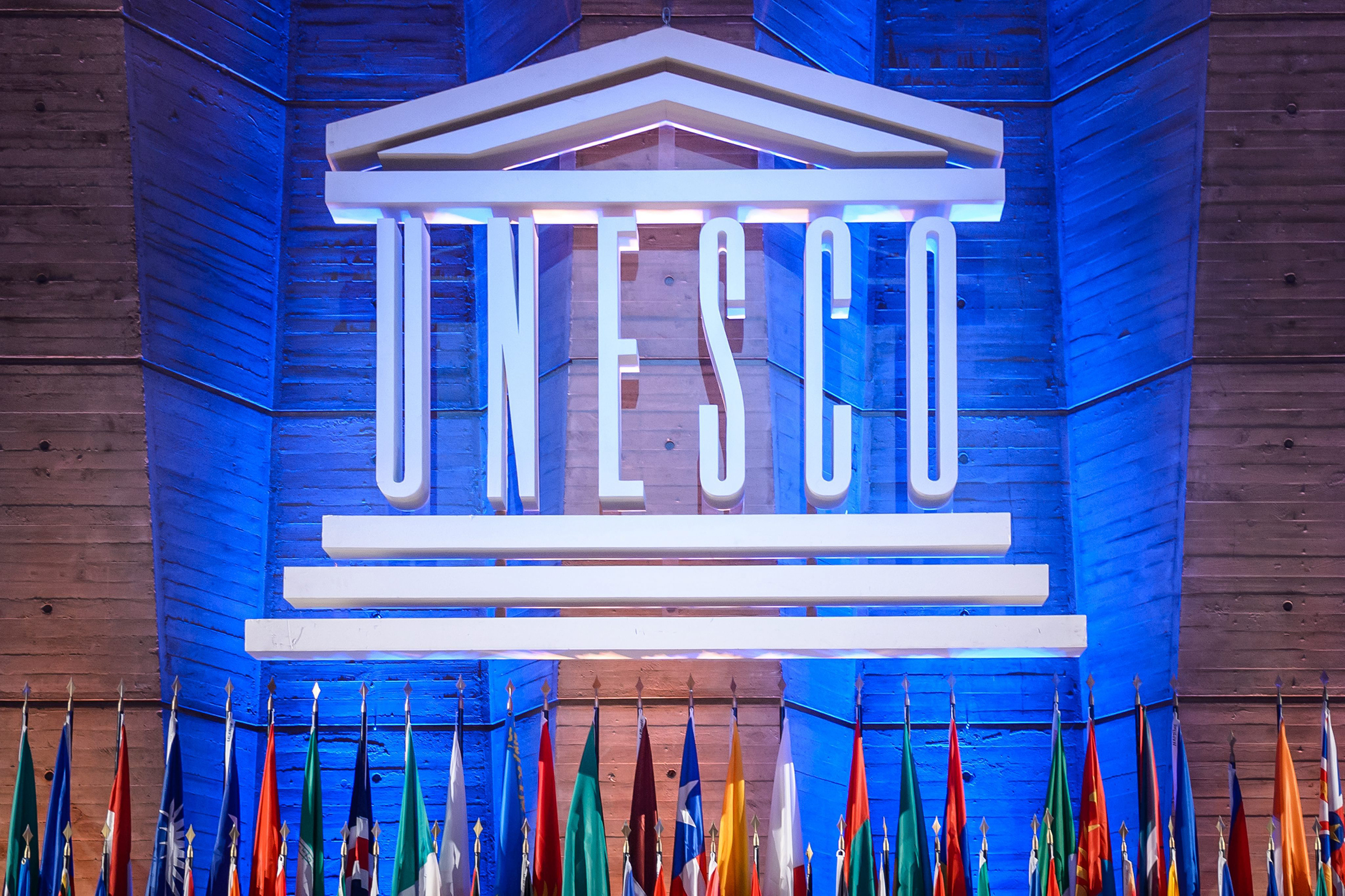 The United Nations Educational Scientific and Cultural Organization Headquarters in Paris, Nov. 9, 2015 during the 38th Session of the Unesco General Conference.