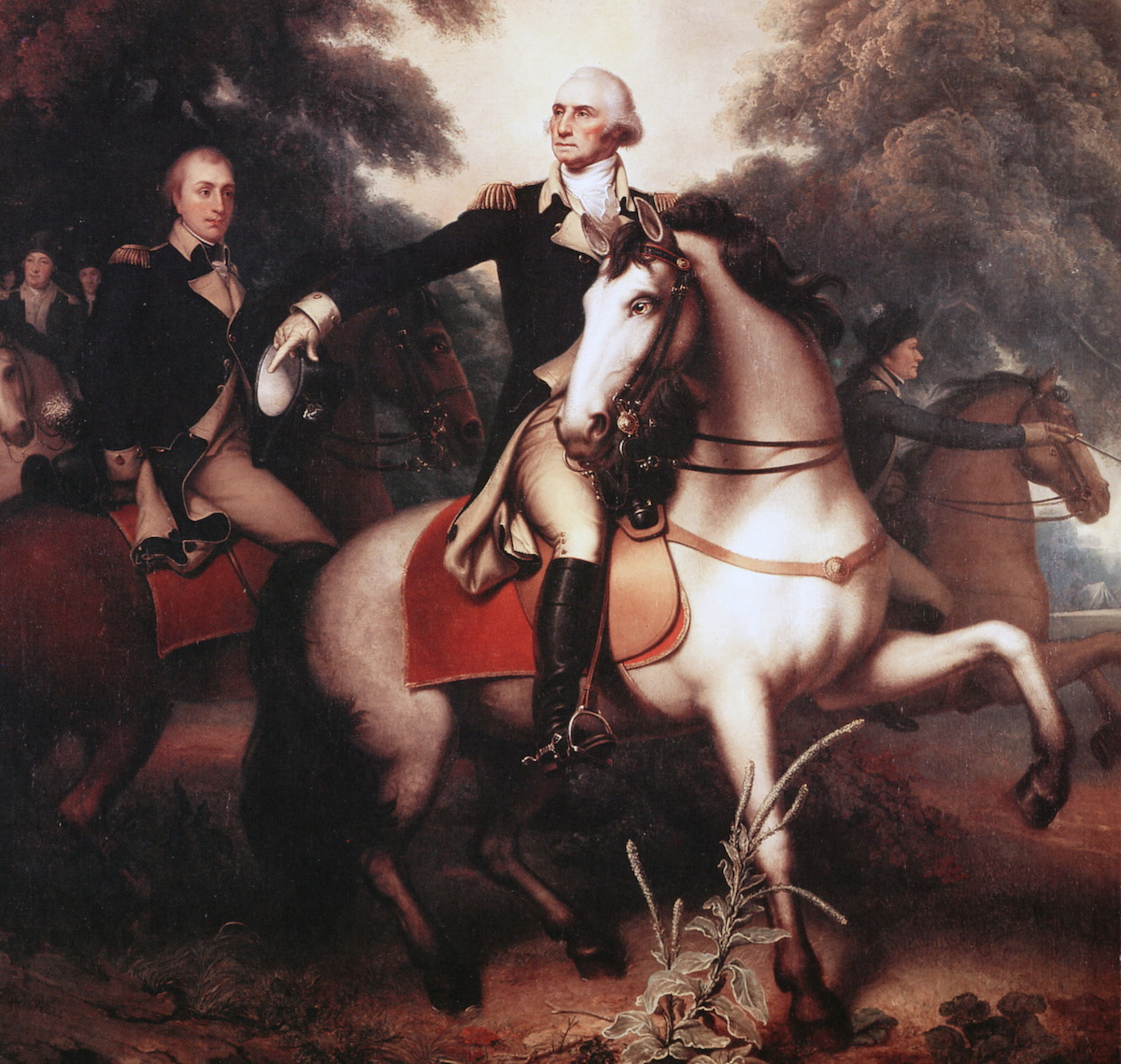 Washington before Yorktown by Rembrandt Peale (1778-1860).