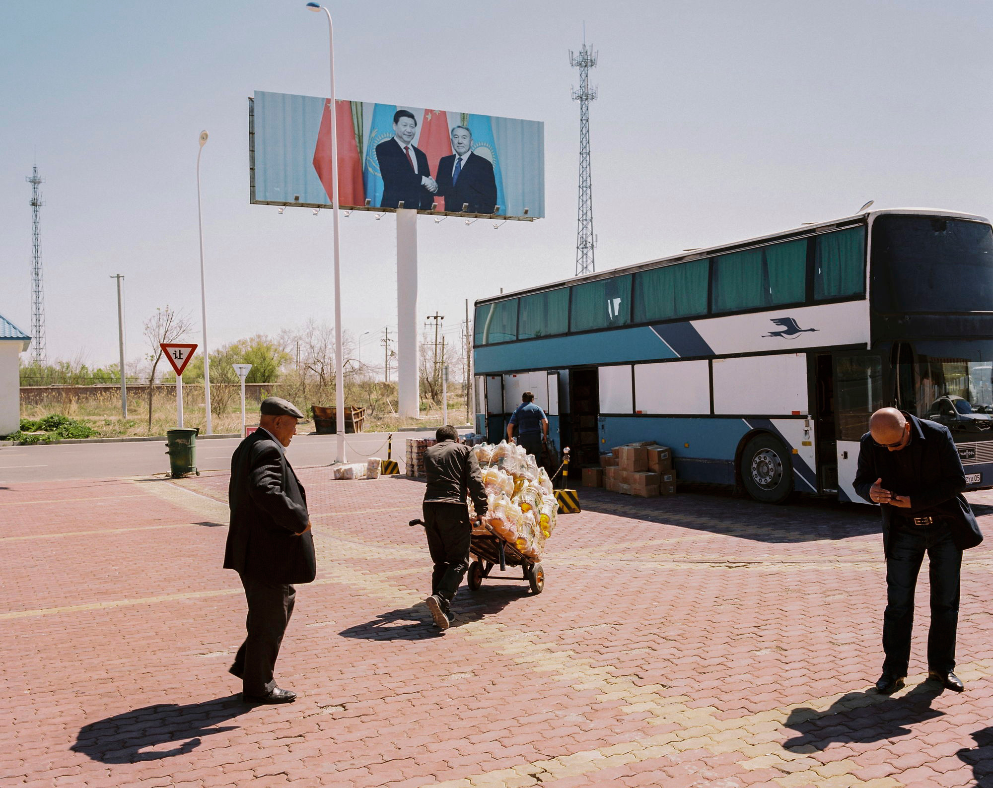 A border-control point between China and Kazakhstan near the city of Tacheng in the province of Xinjiang in May 2017.