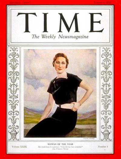 The Jan. 4, 1937, issue of TIME naming Wallis Simpson  Woman of the Year