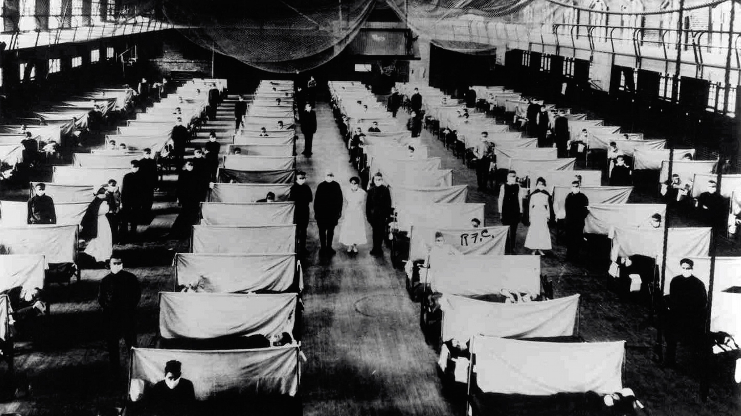 Warehouses were converted to keep the infected quarantined during the 1918 Influenza pandemic.