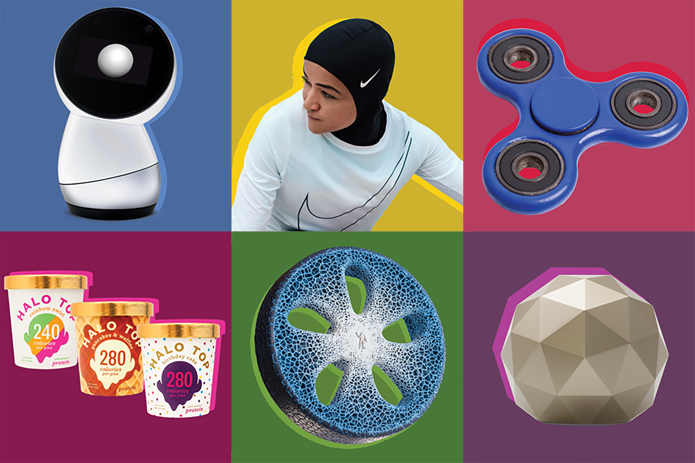 From Halo Top Ice Cream to the Nike Pro Hijab, these are the 25 best inventions of 2017.