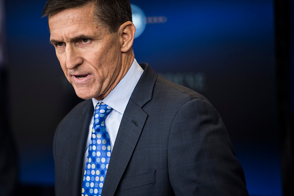 National Security Adviser Michael Flynn during the daily news briefing at the White House in Washington, DC on Feb. 1, 2017.