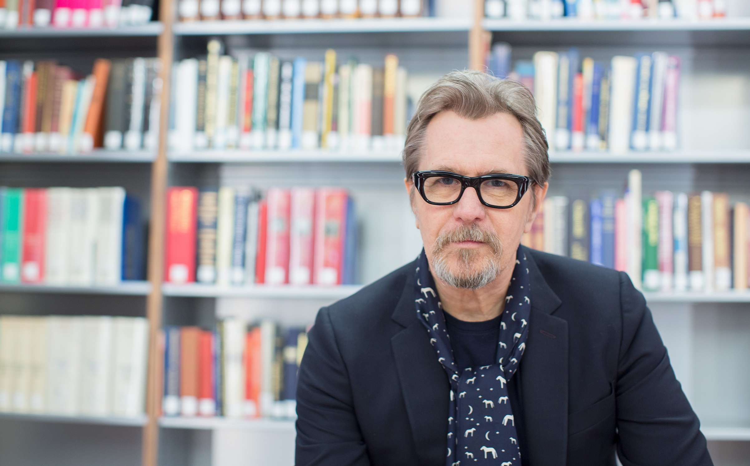 Actor Gary Oldman at Churchill Library Meet and Greet - Darkest Hour Tour at National Churchill Library and Center on November 3, 2017 in Washington, DC.