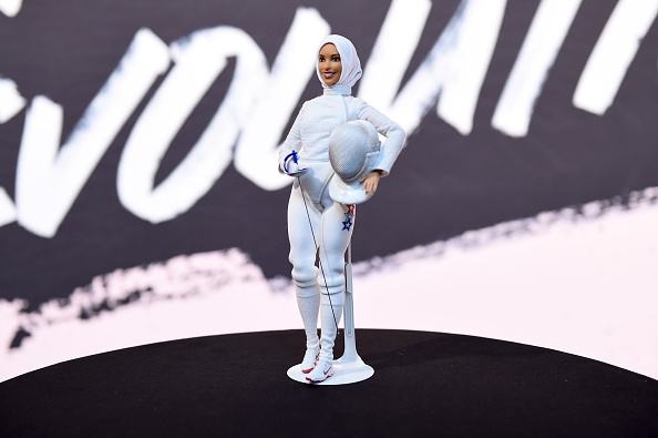 Mattel's new Barbie modelled on the American athlete Ibtihaj Muhammad.