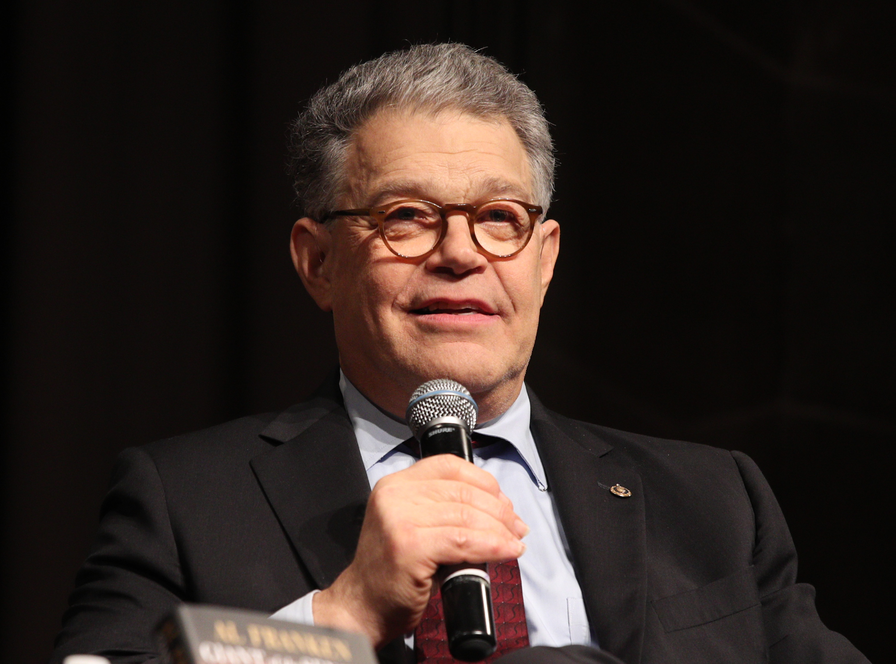 Senator Al Franken speaks at The Great Hall at Cooper Union in New York City, on Aug. 1, 2017.