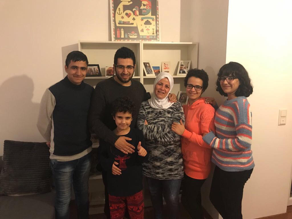 The Alsho family at their new home in Germany