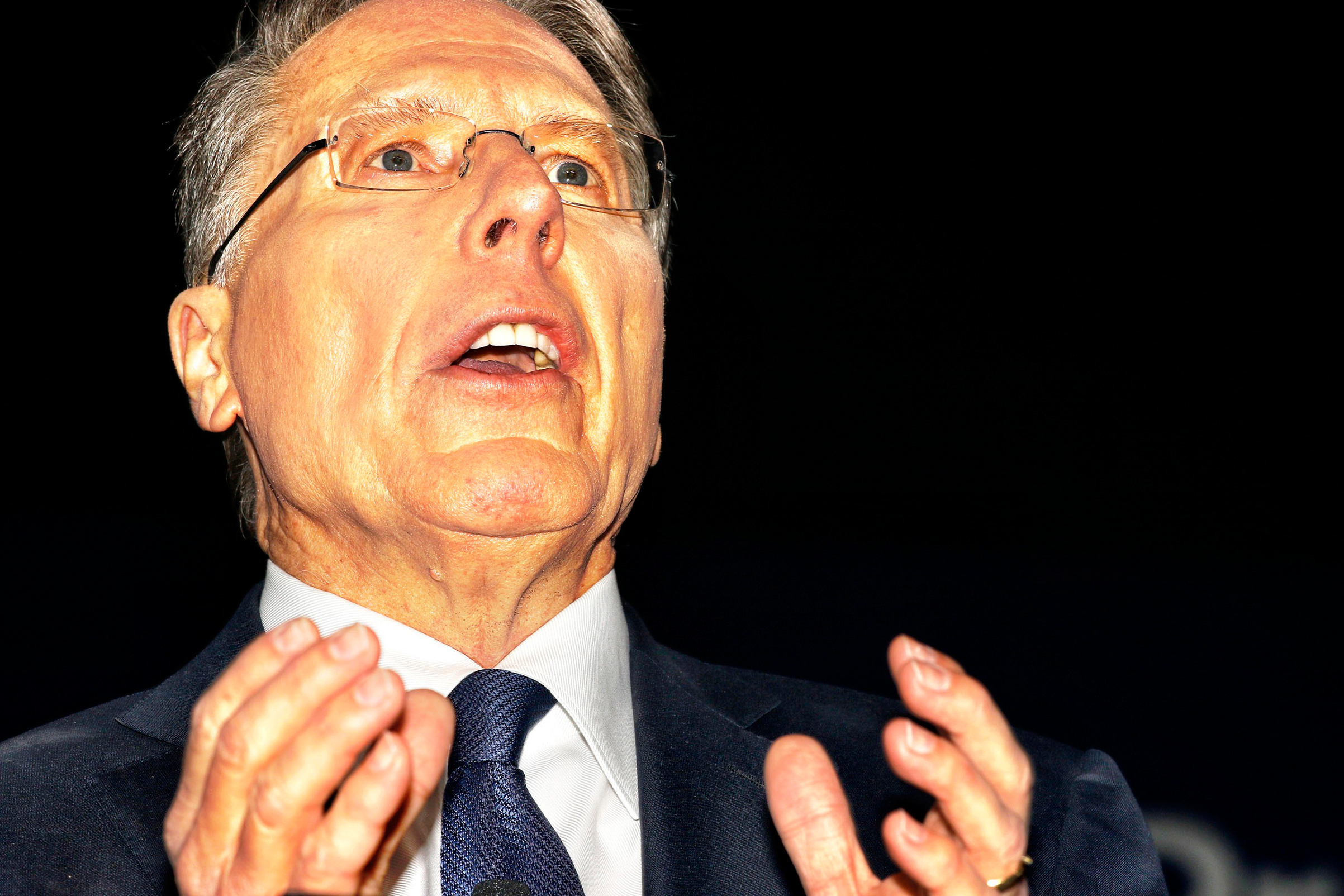 NRA CEO Wayne LaPierre speaks at the Conservative Political Action Conference in Oxon Hill, Md., on Feb. 24