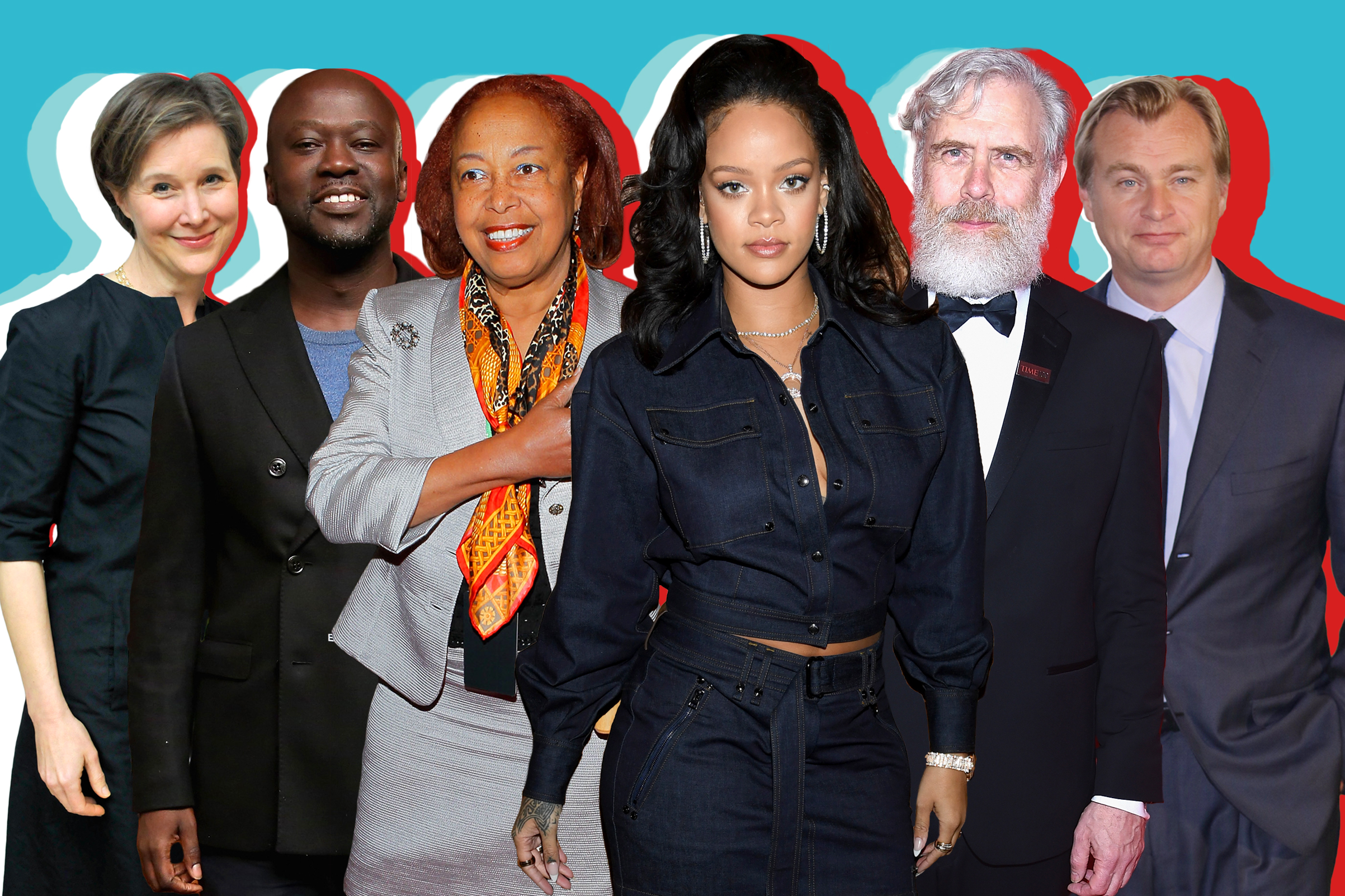 Ann Patchett, David Adjaye, Patricia Bath, Rihanna, George M. Church, and Christopher Nolan.