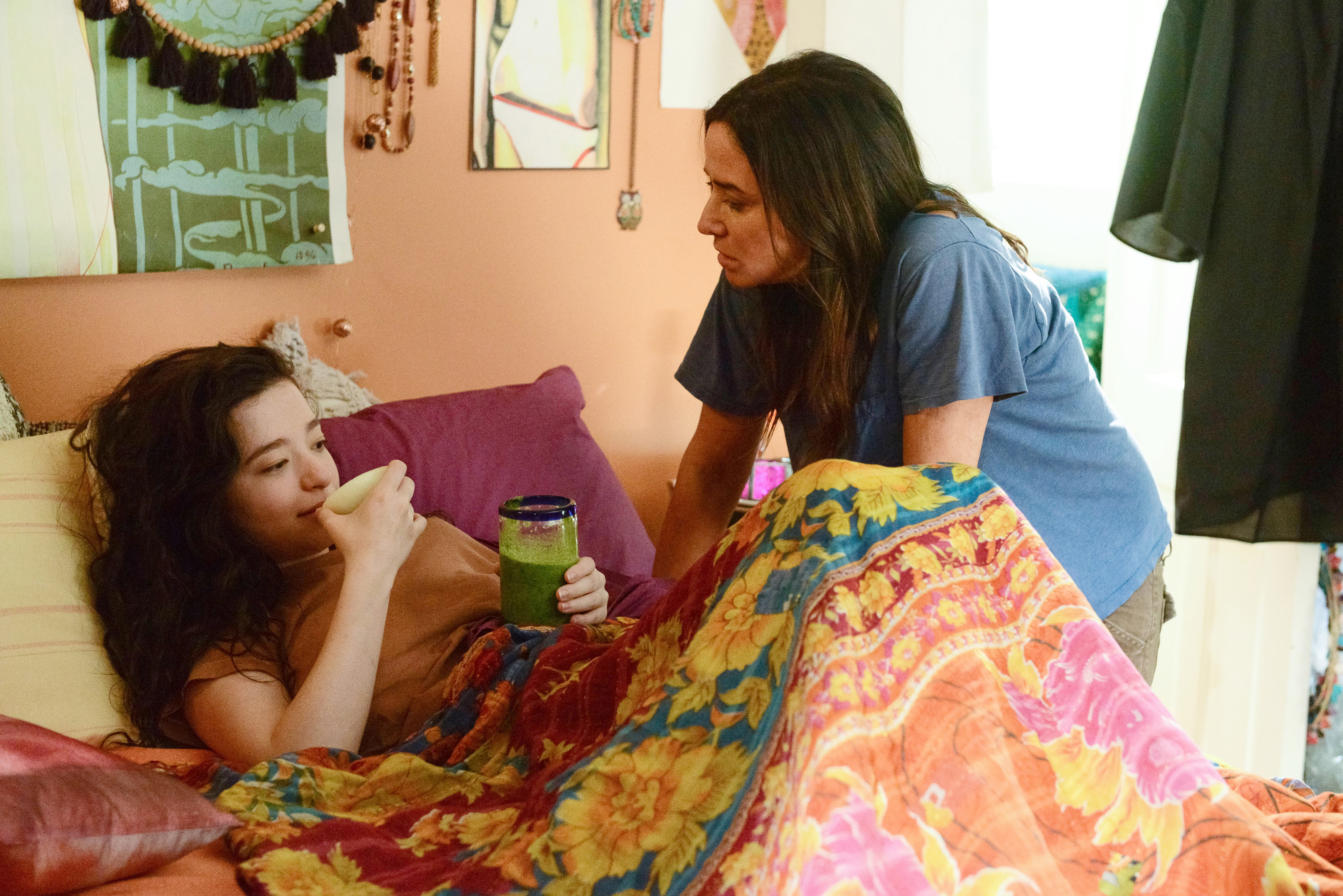 Mikey Madison as Max, and Pamela Adlon as Sam Fox in the season finale of 'Better Things'.