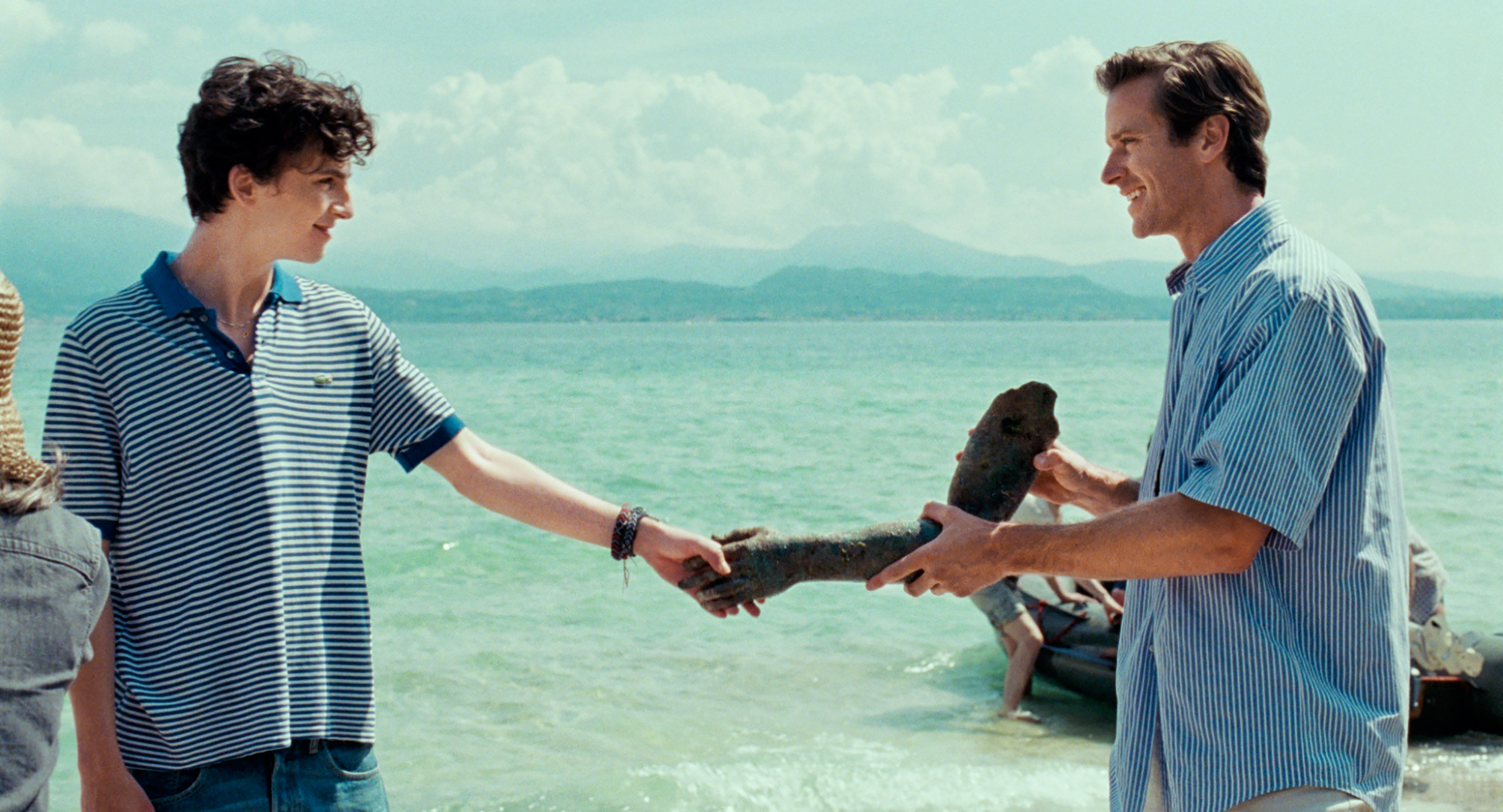 Chalamet and Hammer in Call Me by Your Name: the feeling is mutual