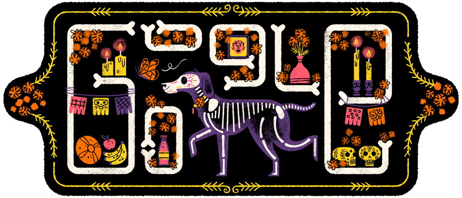 NOV. 2 2017 - Google's doodle celebrates Mexico's Day of the Dead
