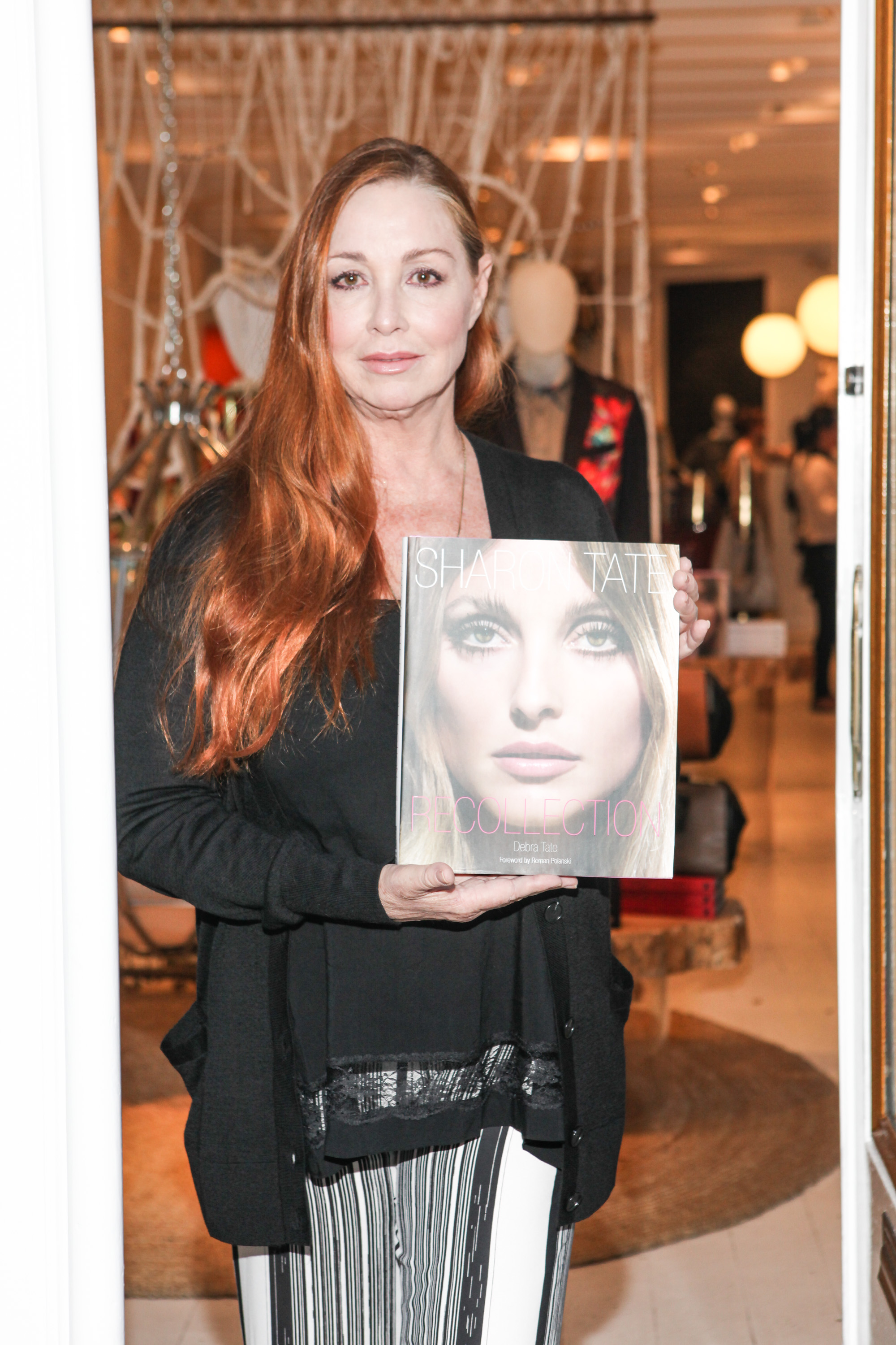 Author Debra Tate attends the signing for her book  Sharon Tate: Recollection  on October 21, 2014 in New York City.