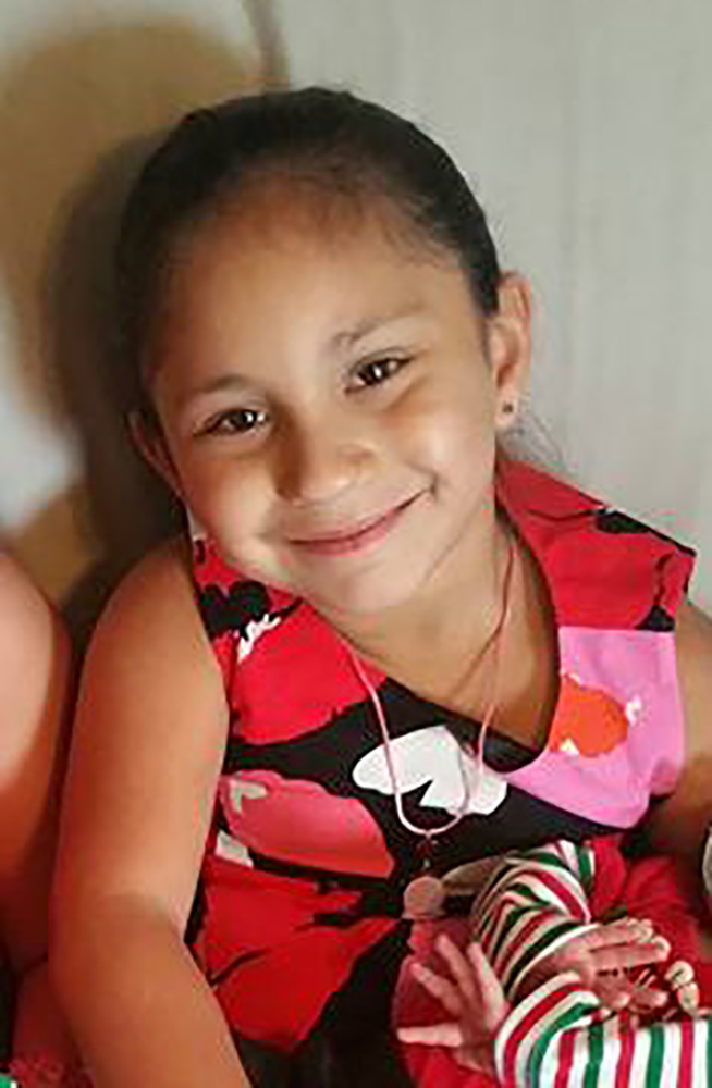 Emily Garza, 7, a victim of the mass shooting at the First Baptist Church in Sutherland Springs, Texas, is seen in this photo obtained Nov. 7, 2017.