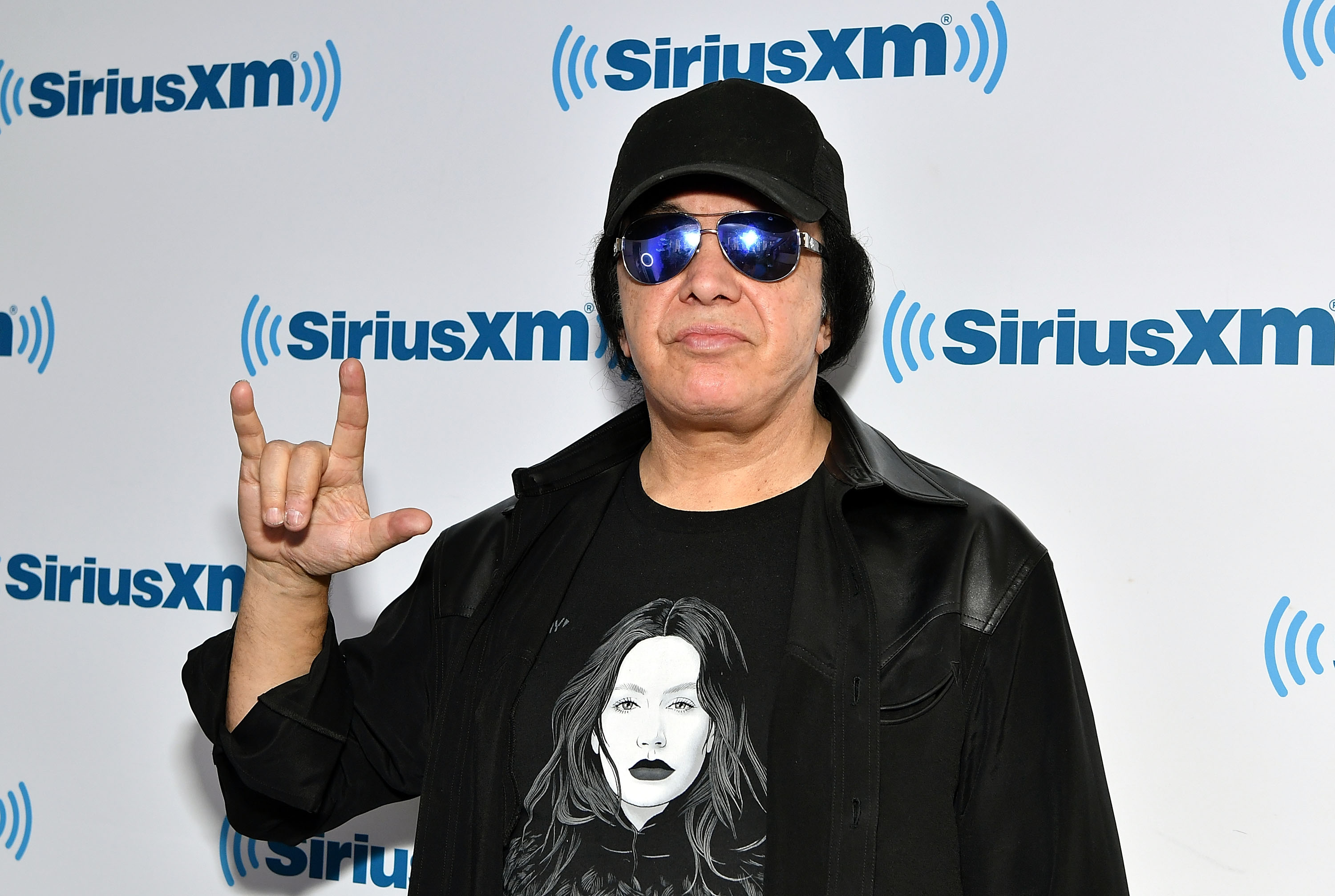 Gene Simmons visits SiriusXM Studios on November 16, 2017 in New York City.