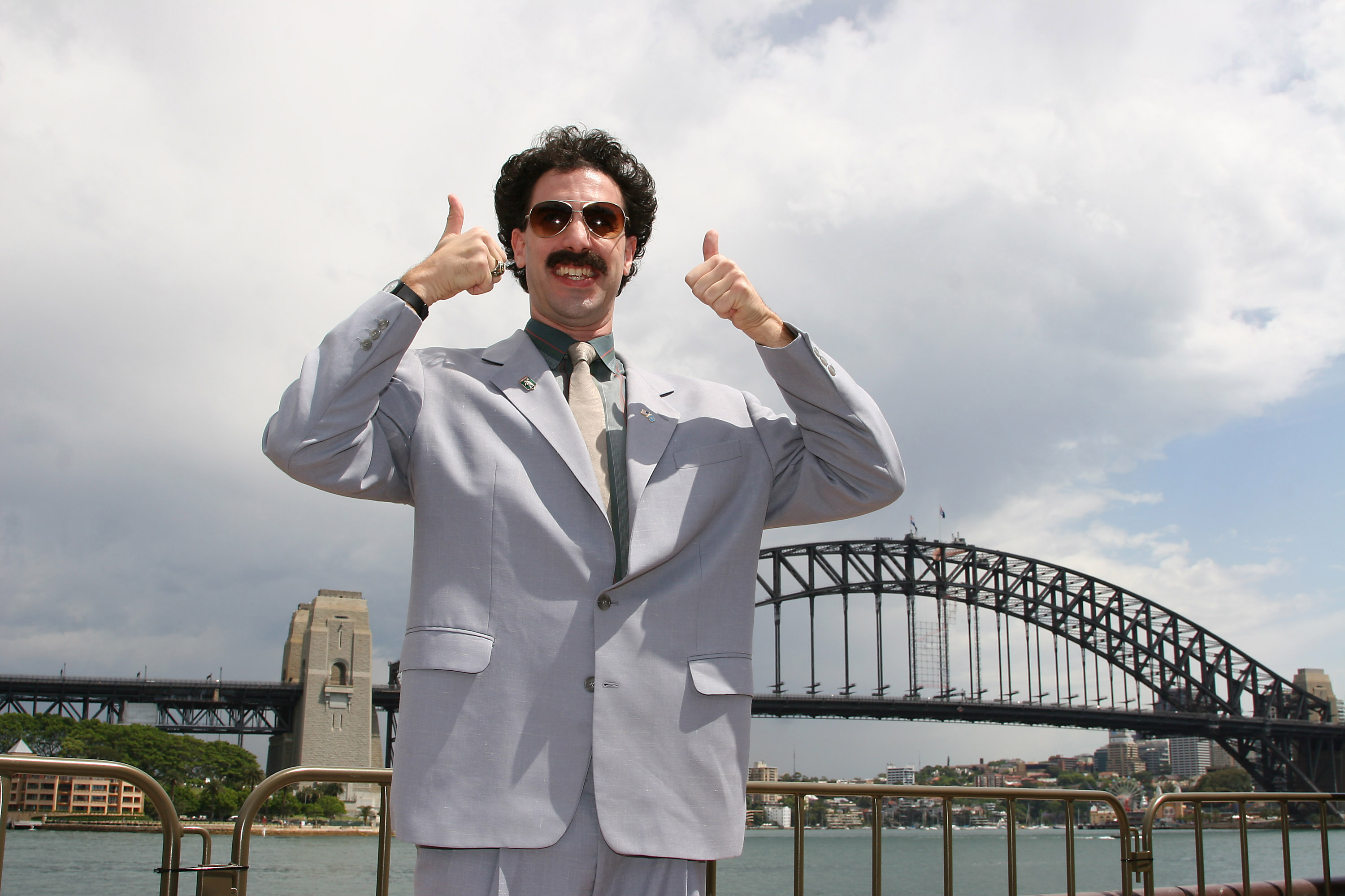 Sacha Baron Cohen as  Borat  during a press conference in Sydney, Australia on Nov. 12, 2006.
