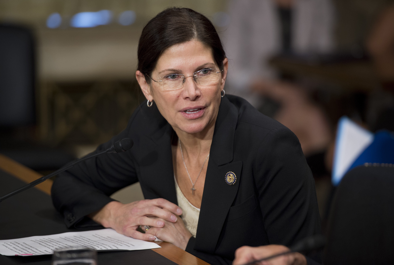 Rep. Mary Bono Mack, R-Calif. preparing to testify before a Senate Caucus on July 18, 2012.