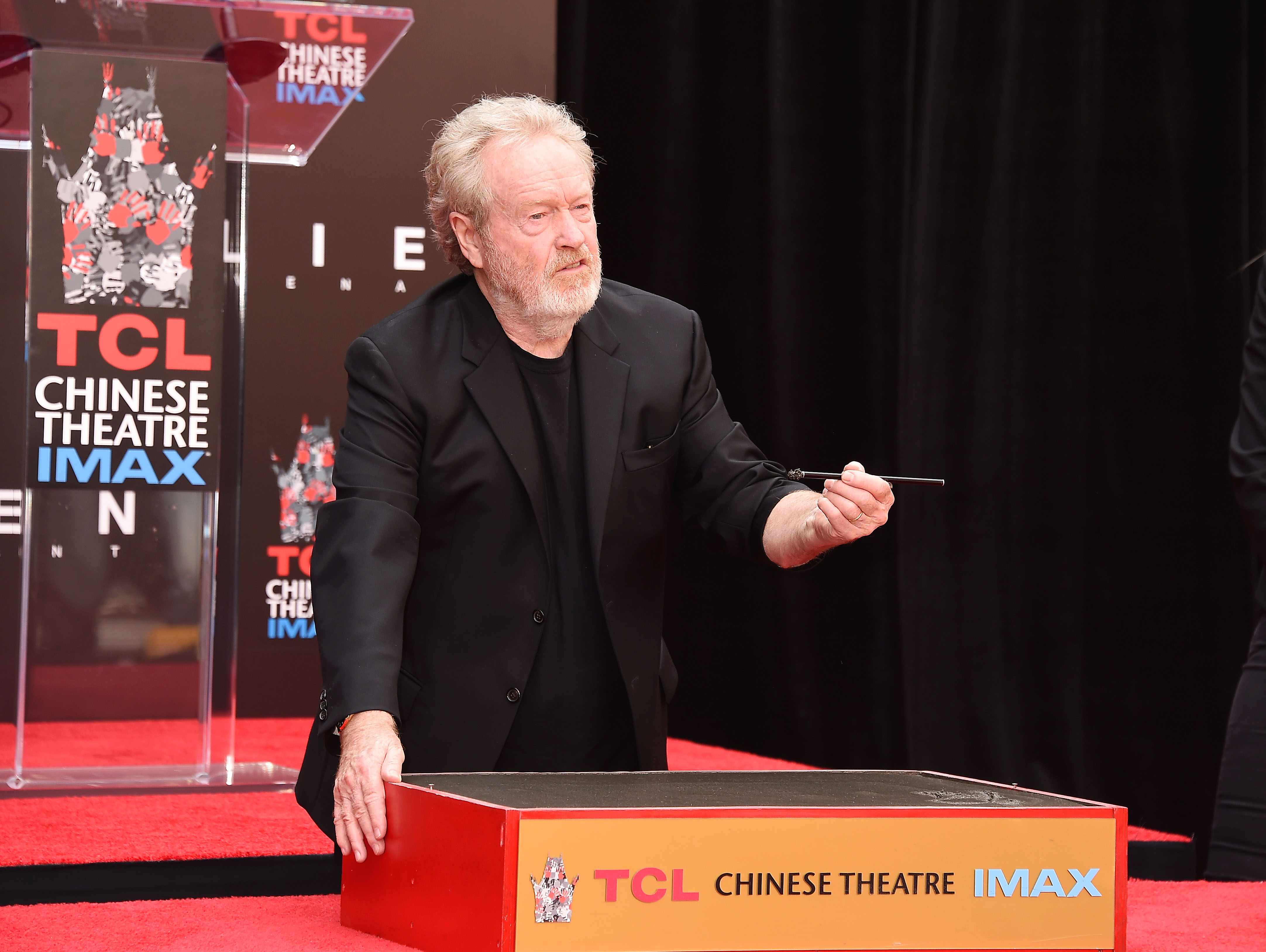 Director/producer Sir Ridley Scott attends the Sir Ridley Scott Hand and Footprint Ceremony at TCL Chinese Theatre IMAX on May 17, 2017 in Hollywood, California.