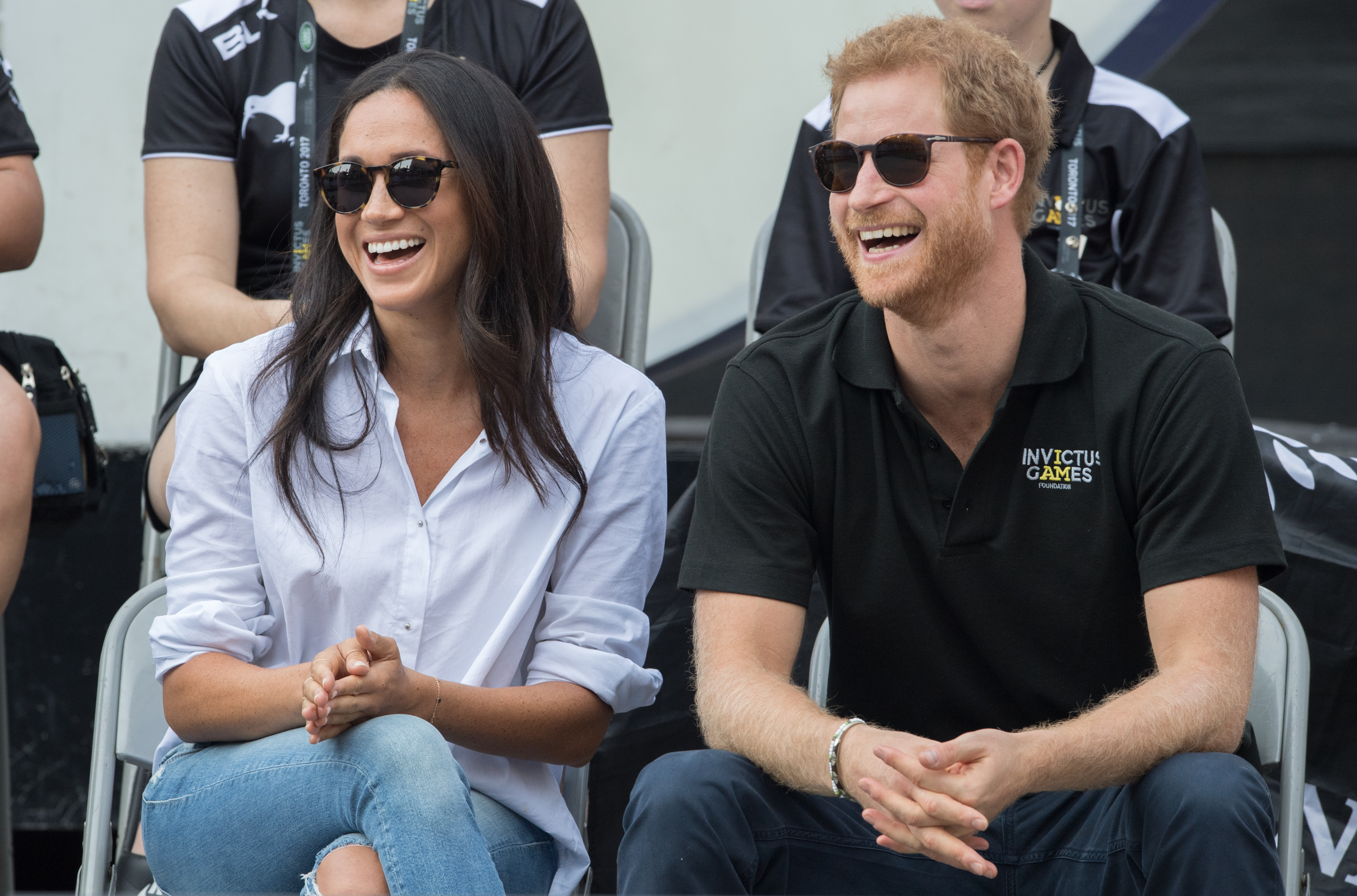 Meghan Markle and Prince Harry attend wheelchair tennis on day 3 of the Invictus Games Toronto 2017 on September 25, 2017 in Toronto, Canada.