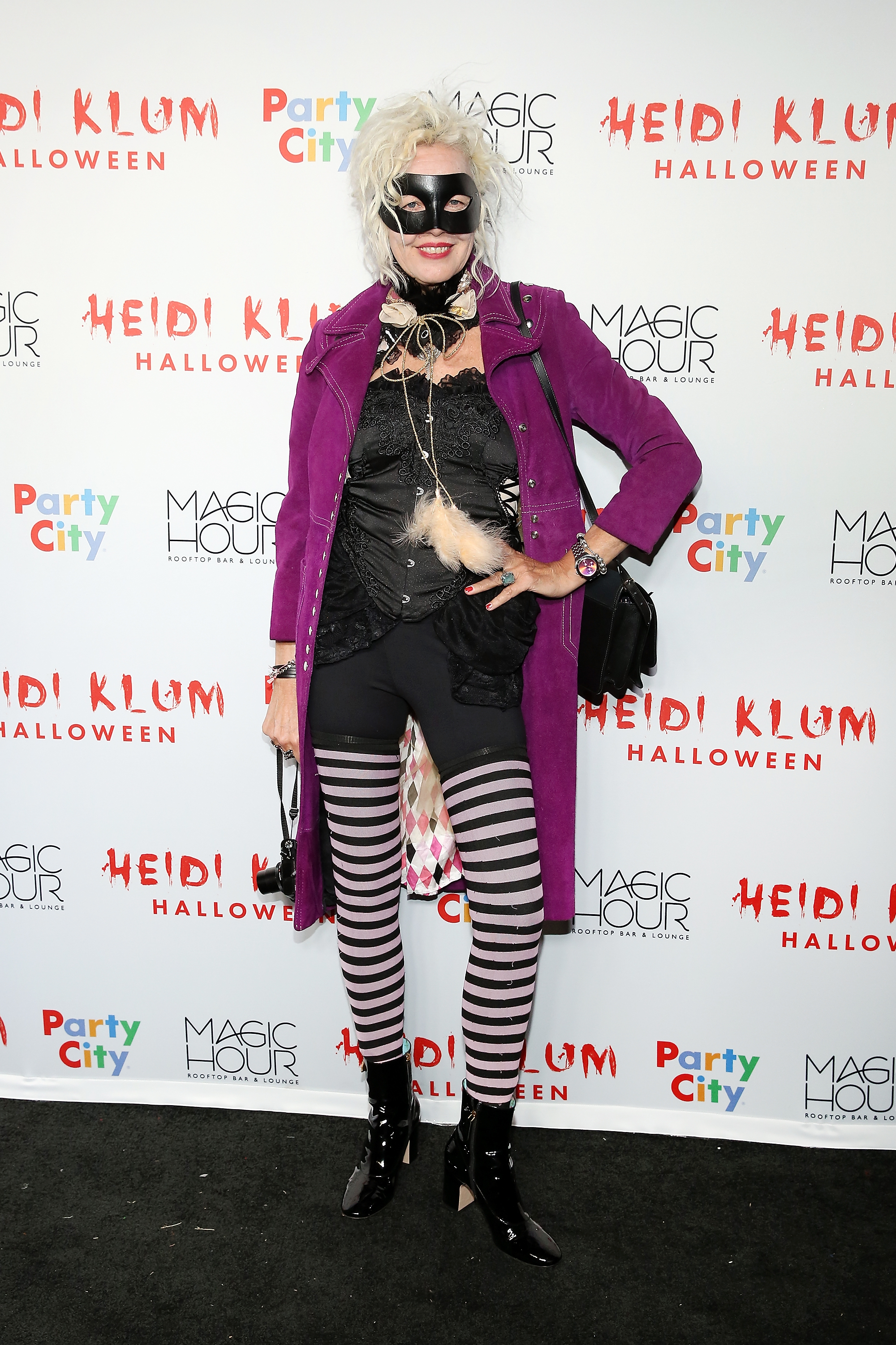 Photographer Ellen von Unwerth went for a witchy costume for Heidi's Halloween party.