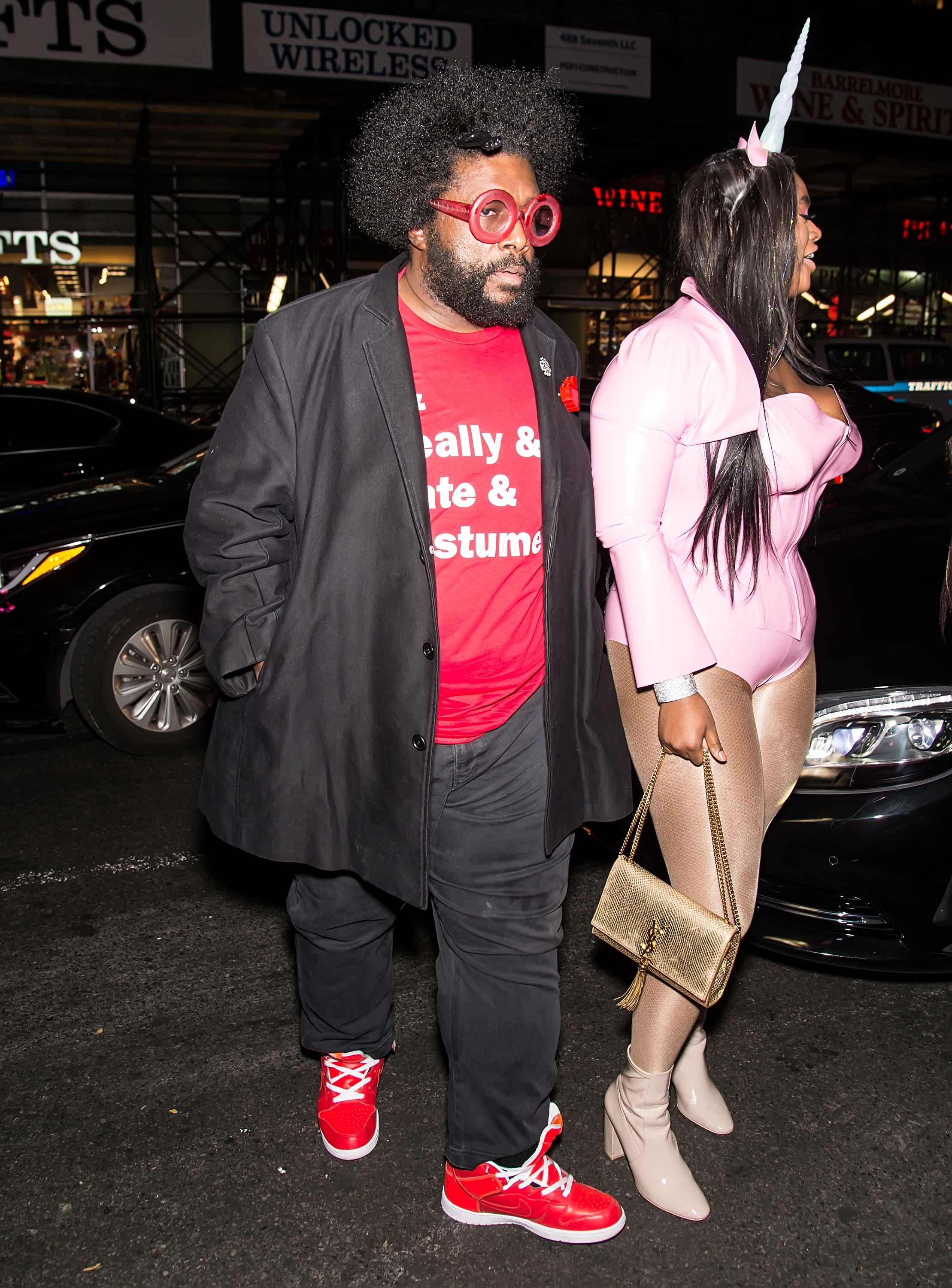 Questlove went for a tongue-in-cheek costume for this year's party