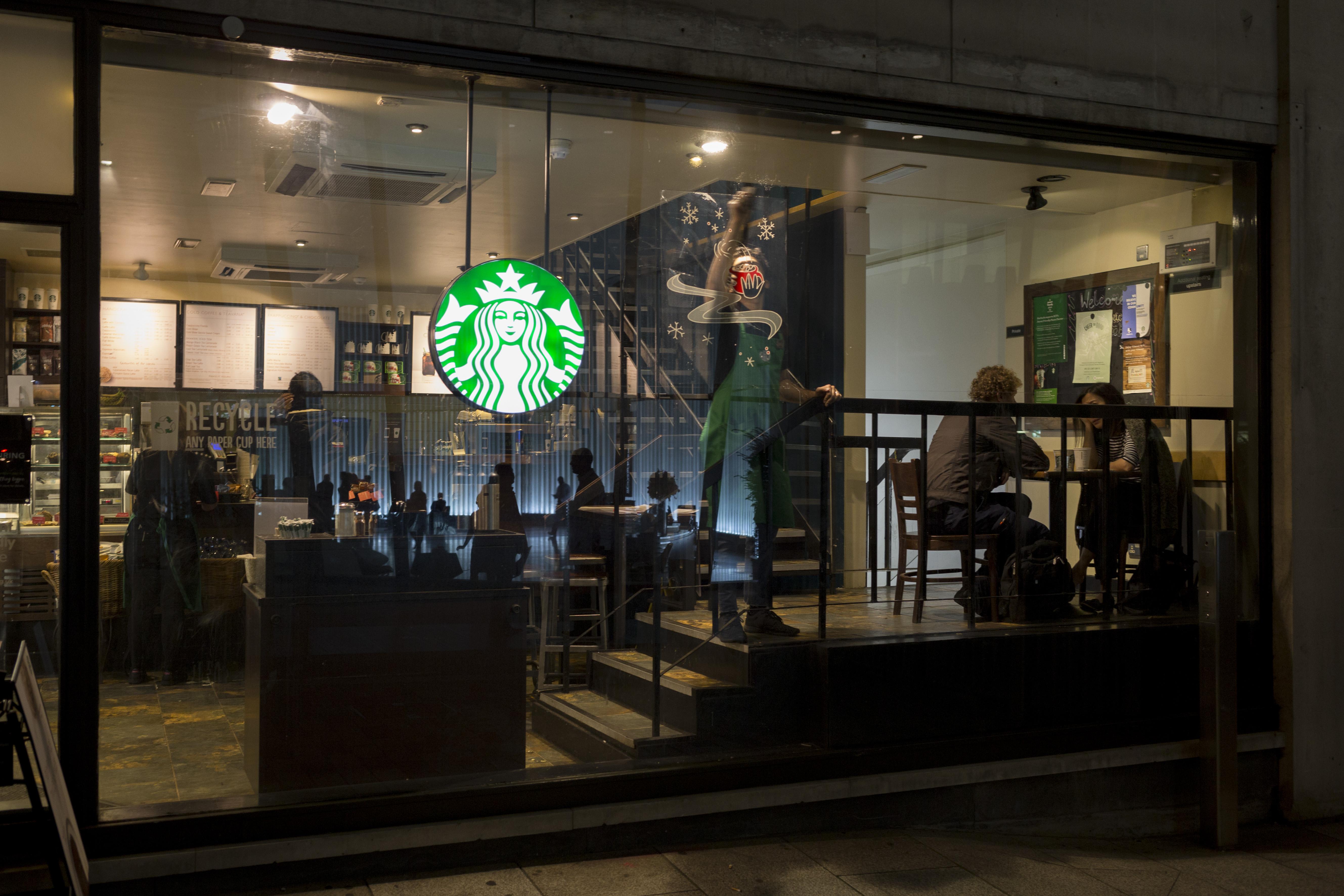 A stock photo of Starbucks.