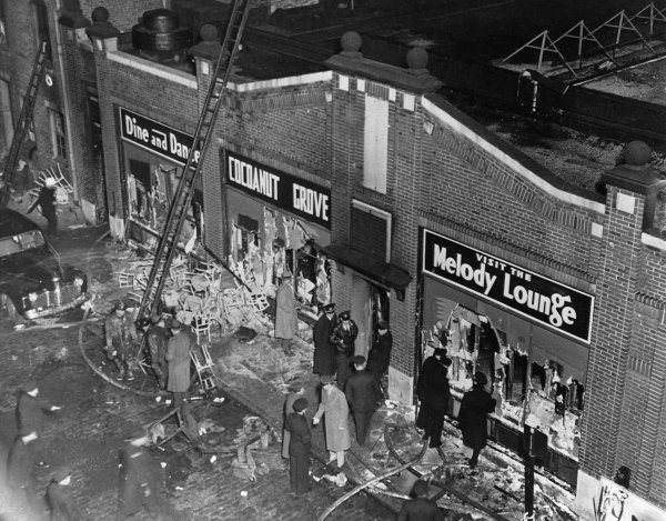 Aftermath of Cocoanut Grove Fire