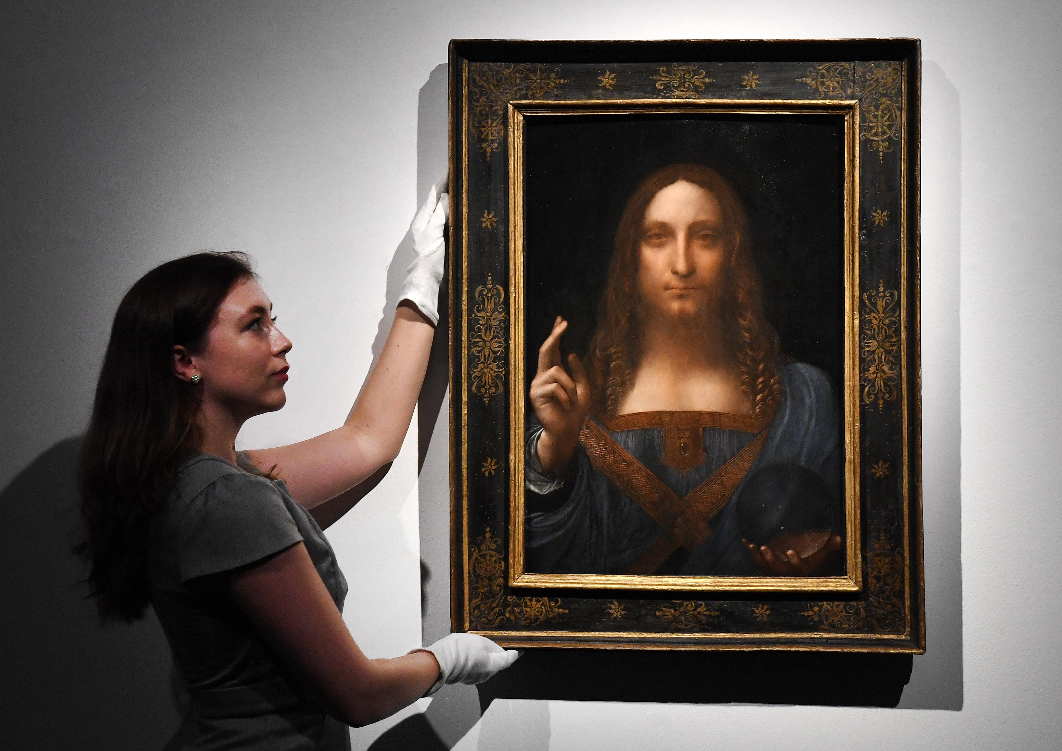 Leonardo da Vinci's painting 'Salvator Mundi' was sold at auction in New York on Nov. 15, 2017.