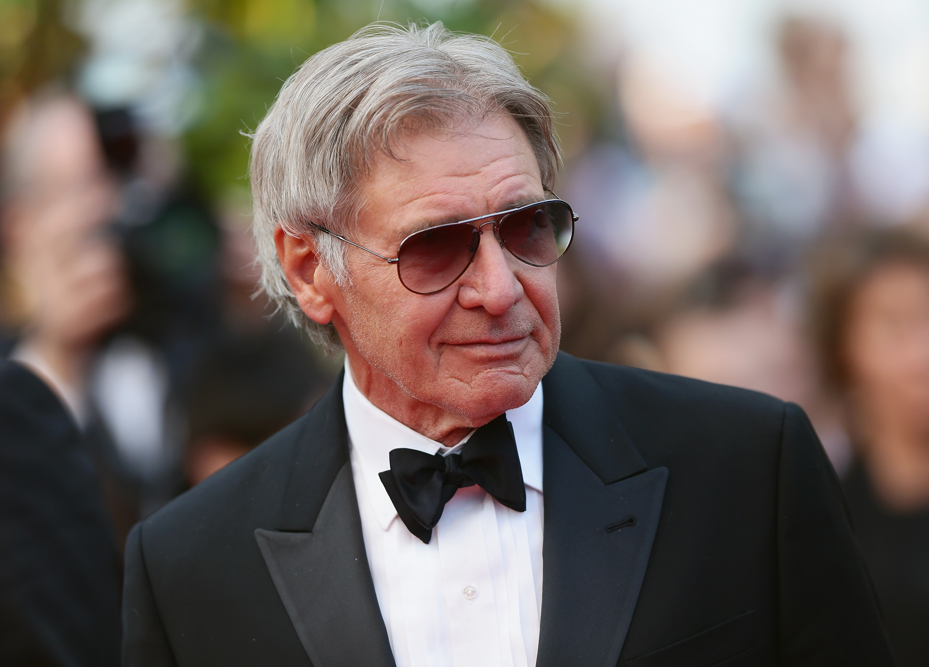 Harrison Ford attends  The Expendables 3  premiere during the 67th Annual Cannes Film Festival on May 18, 2014 in Cannes, France.