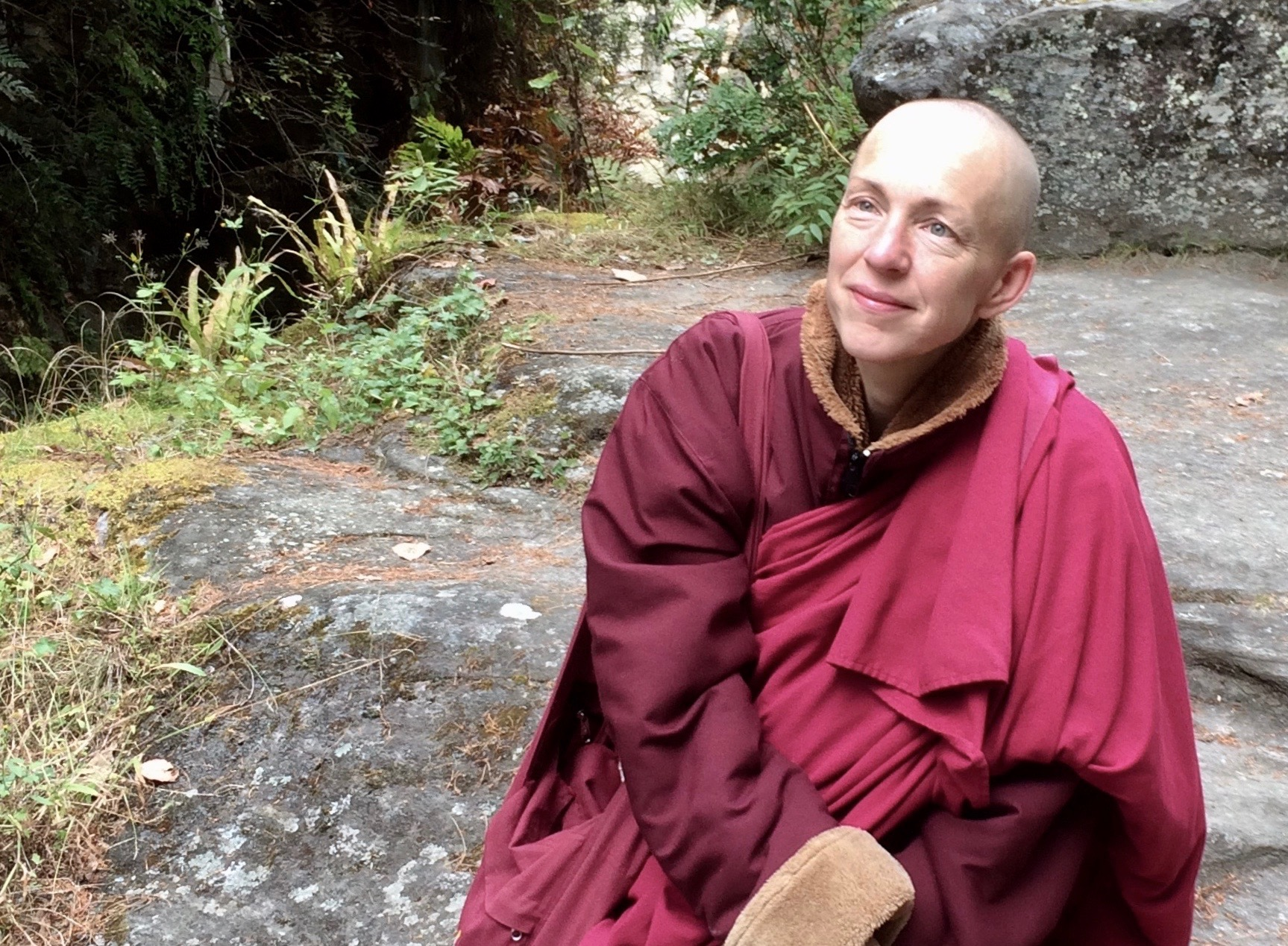 The Buddhist nun and author Emma Slade, also known as Ani Pema Deki, near Burning Lake in the Tang Valley, central Bhutan, on Oct. 20, 2017