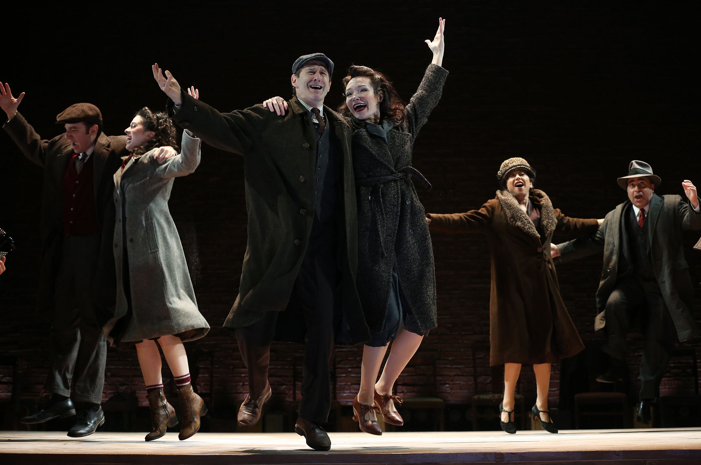 Max Gordon Moore, Adina Verson, Richard Topol, Katrina Lenk, Mimi Lieber and Steven Rattazzi in INDECENT.