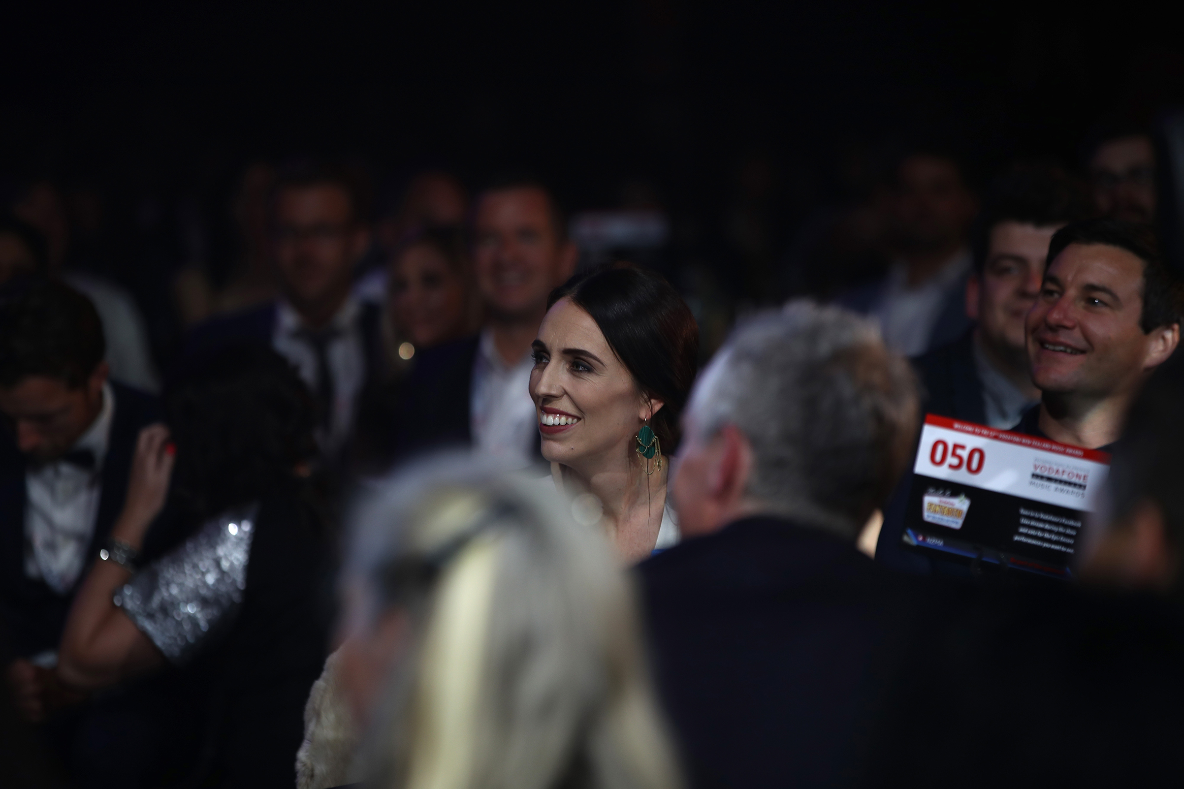 Prime Minister Jacinda Ardern attends an awards show in Auckland, New Zealand, on Nov. 16, 2017.