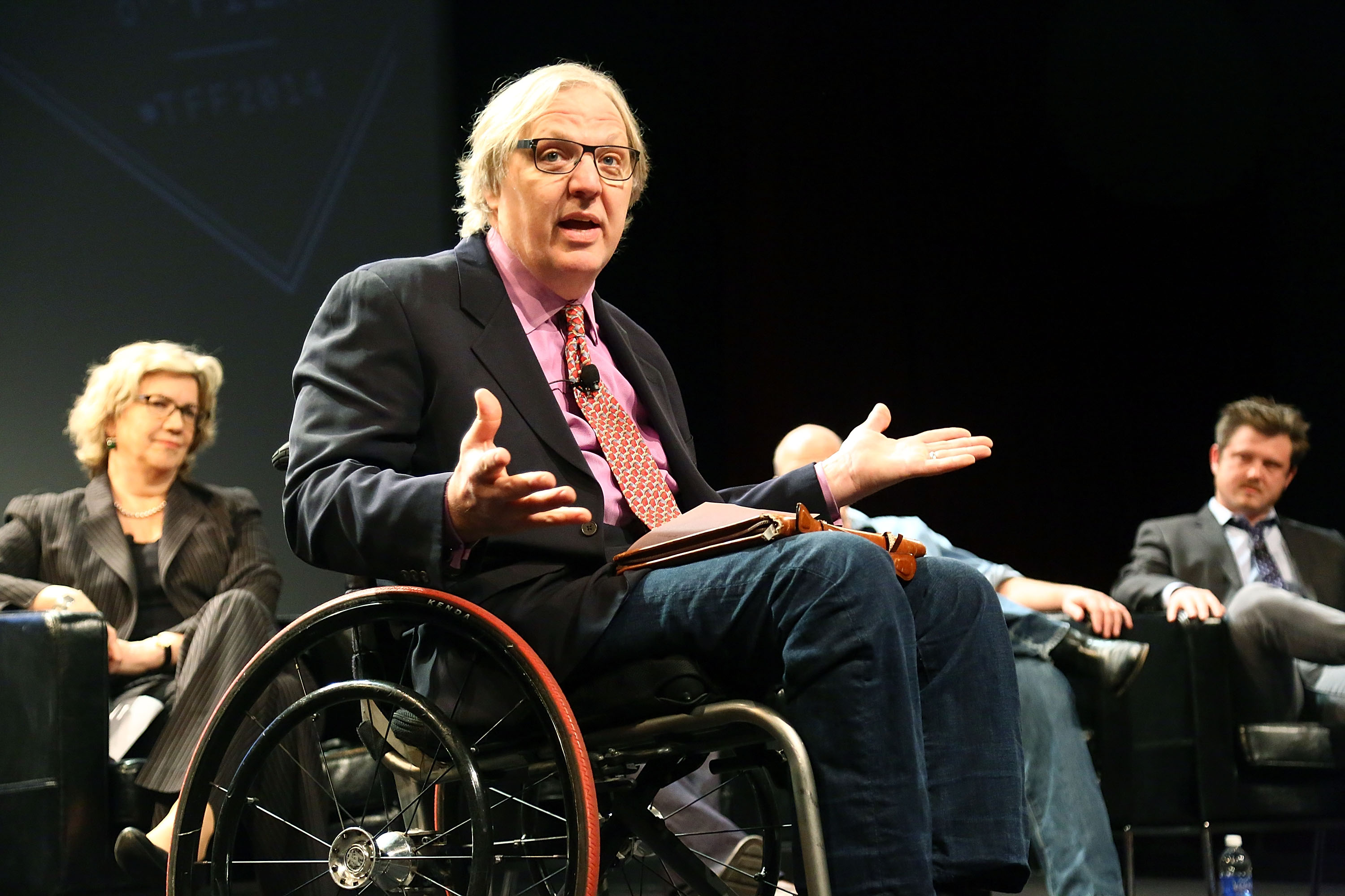Reporter John Hockenberry speaks at the Tribeca Film Festival on April 24, 2014 in New York City.