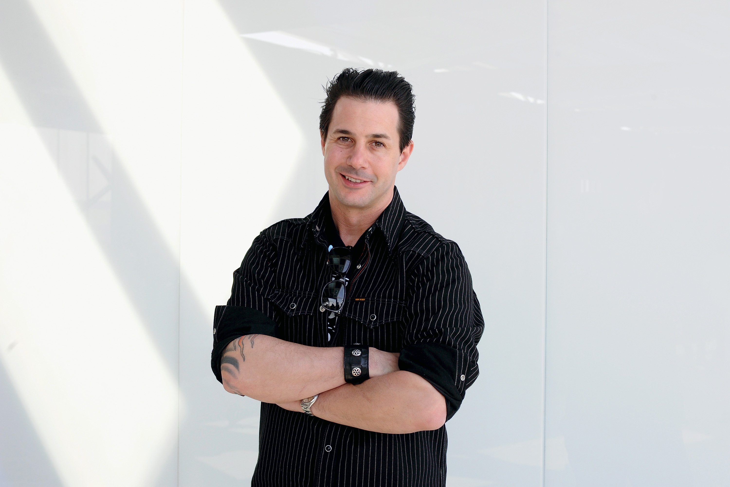 Pastry Chef Johnny Iuzzini poses for a photo during Expo 2015 at Fiera Milano Rho on May 28, 2015 in Milan, Italy.