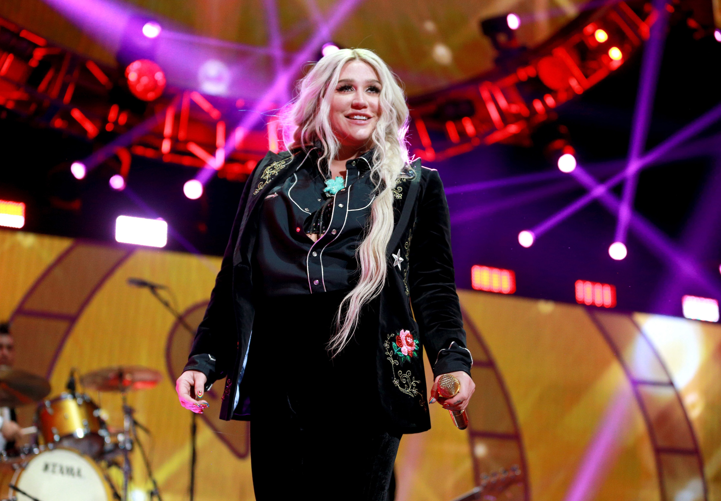 Kesha performs onstage during the 2017 iHeartRadio Music Festival on Sept. 23, 2017 in Las Vegas, Nevada.
