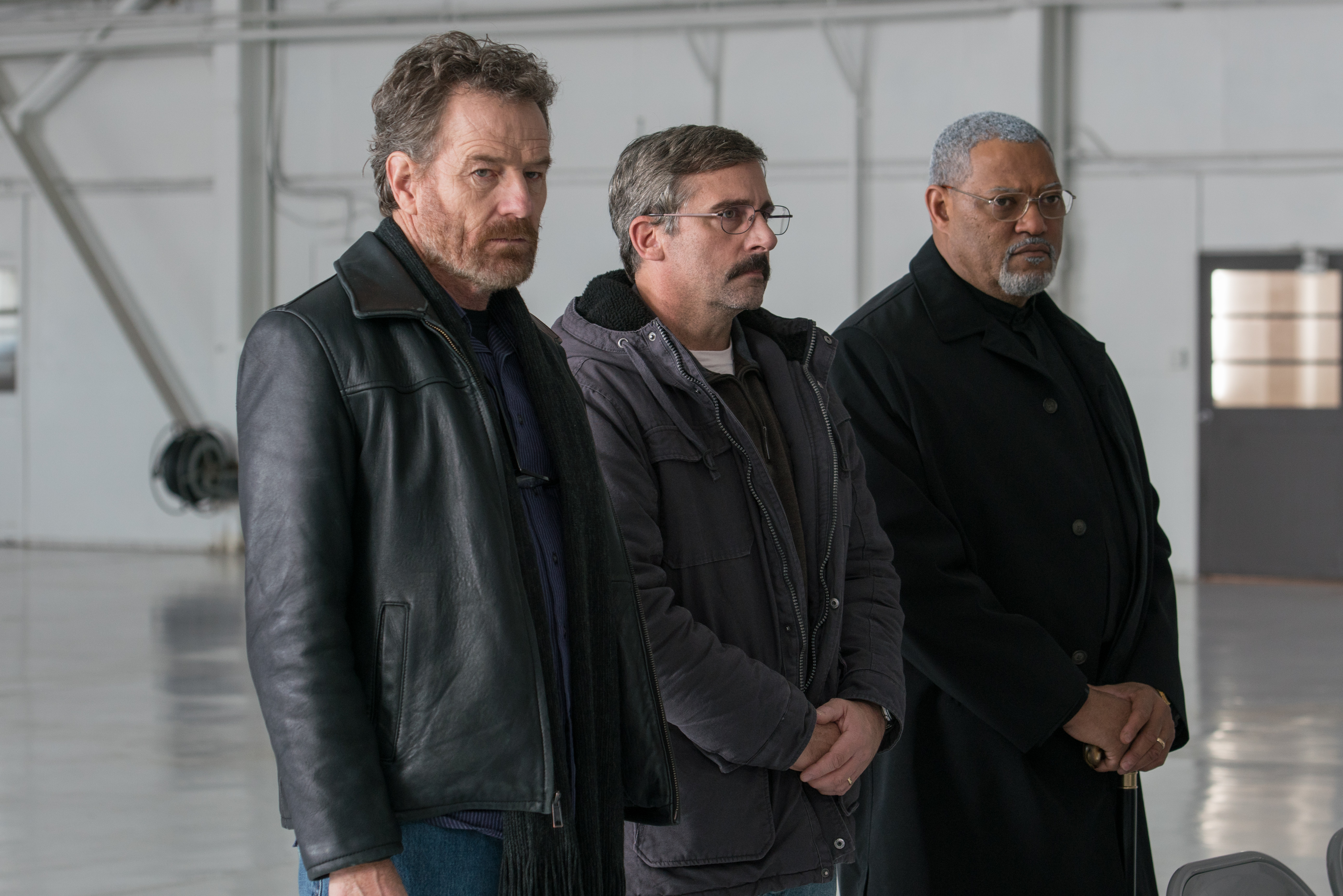 Bryan Cranston as  Sal,  Steve Carrell as  Doc,  and Laurence Fishburne as  Mueller.