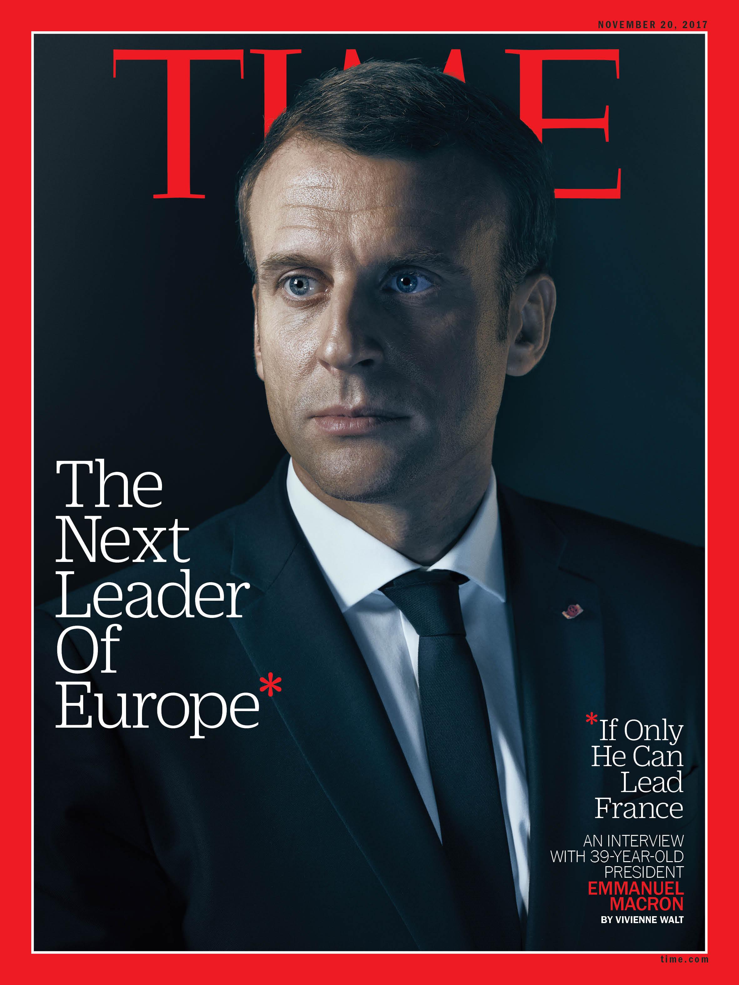 President Emmanuel Macron in the Élysée Palace on Nov. 7.