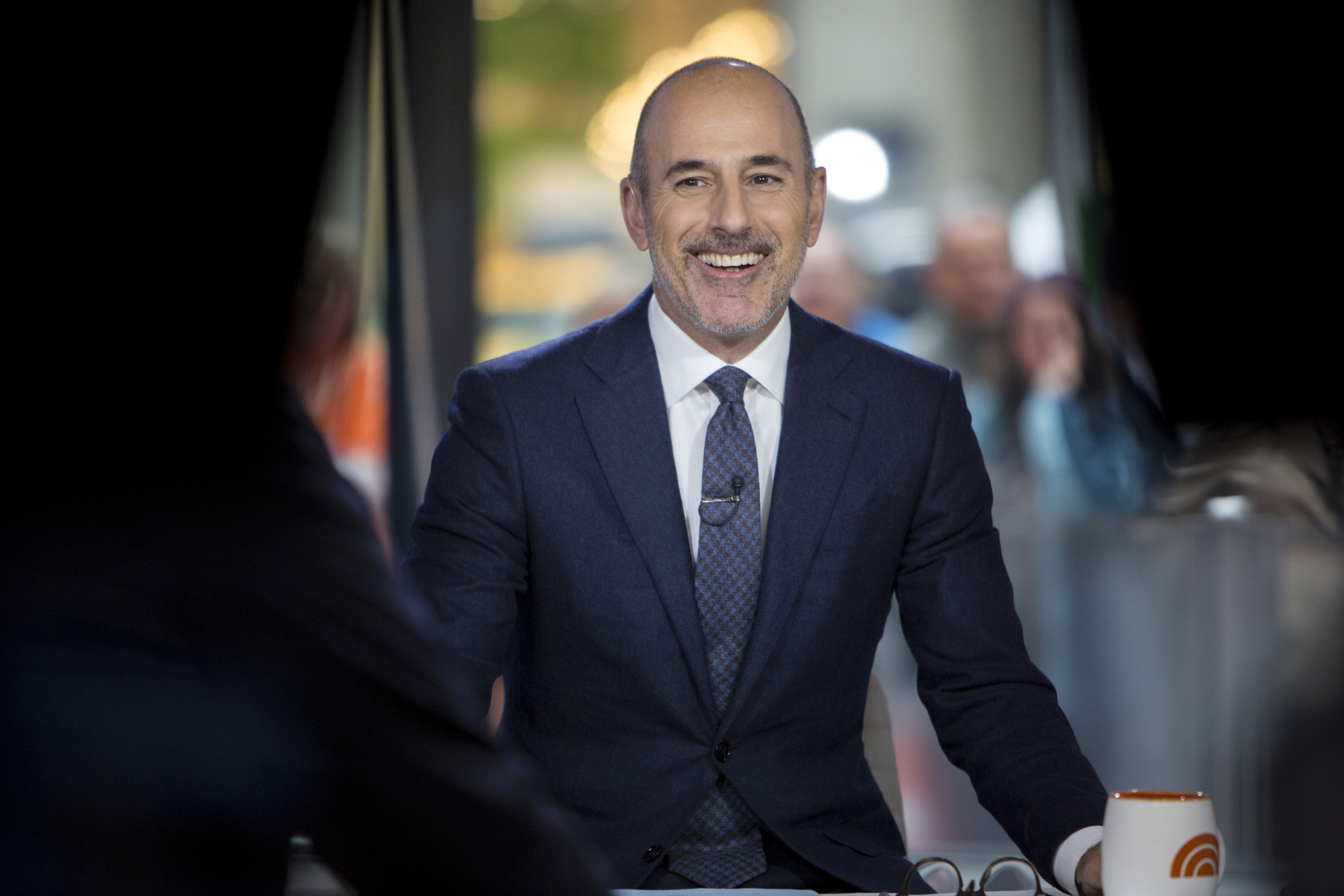 Matt Lauer on set of the Today Show on Nov.16, 2017.